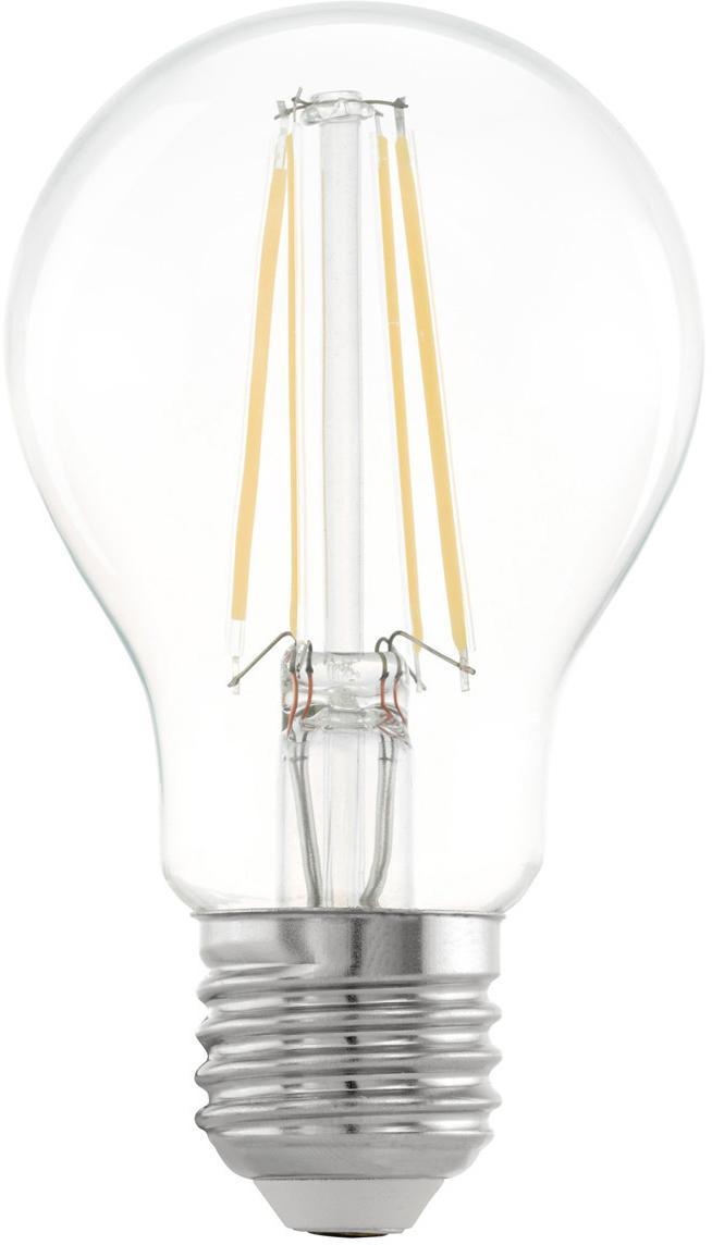 Bombilla LED Cord (E27/6W), Ampolla: vidrio, Casquillo: aluminio, Transparente, Ø 6 x Al 10 cm