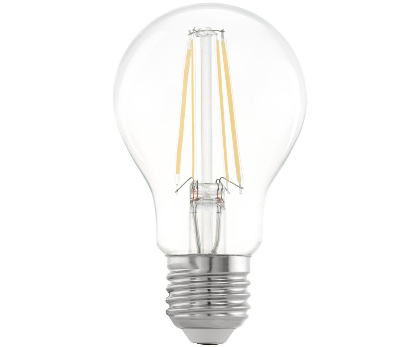 LED lamp Cord (E27 / 6W), Peertje: glas, Fitting: aluminium, Transparant, Ø 6 x H 10 cm