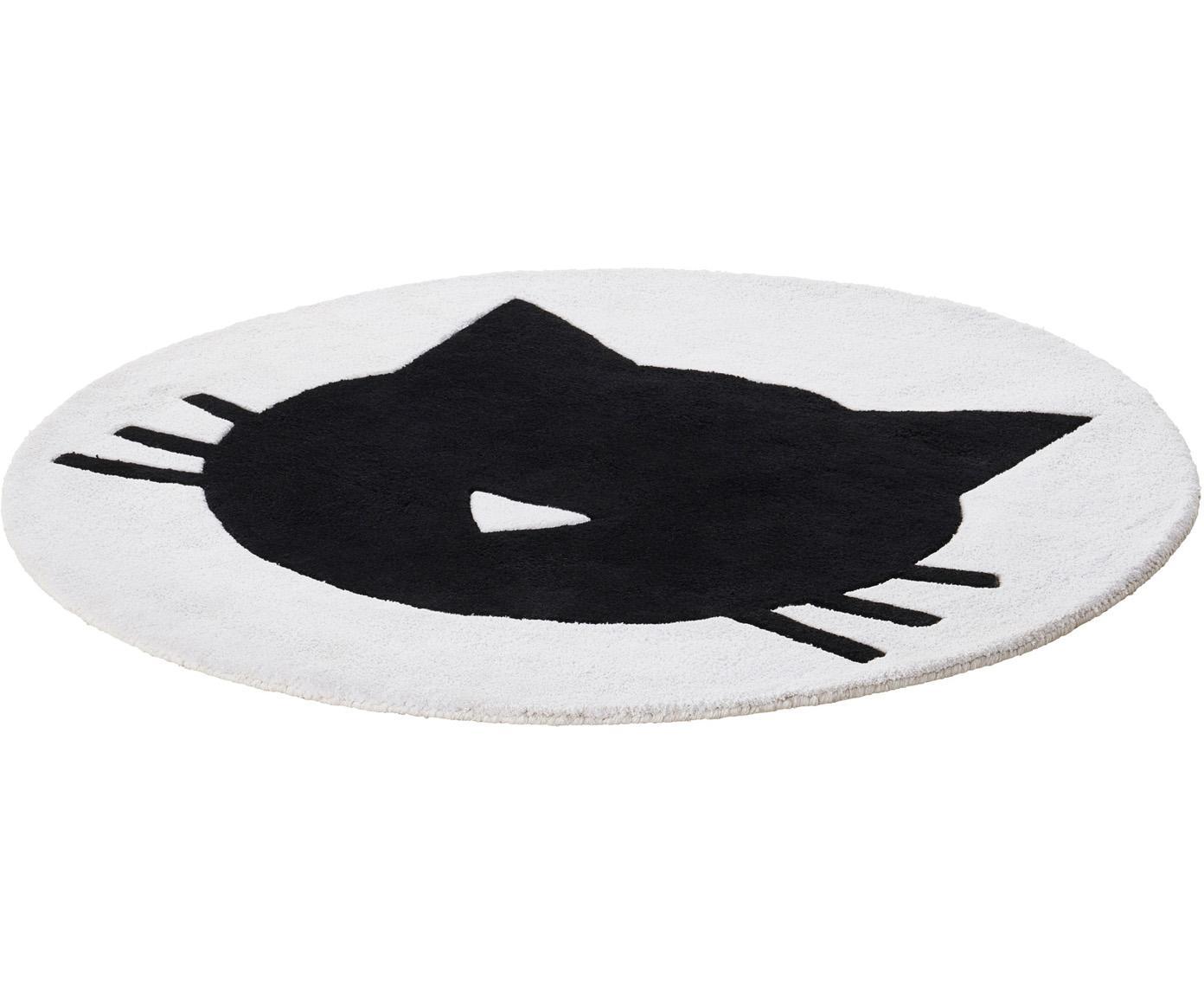 Teppich El Gato, 100% Baumwolle, 1200 g/m², Weiß, Ø 120 cm (Größe S)