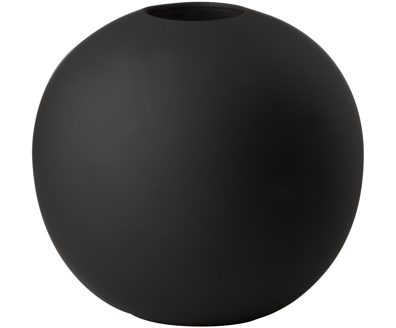 Vaas Ball, Keramiek, Zwart, Ø 20 x H 20 cm