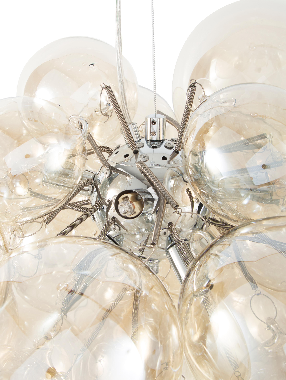 Glaskugel-Pendelleuchte Gross Grande, Bernsteinfarben, Ø 62 x H 50 cm