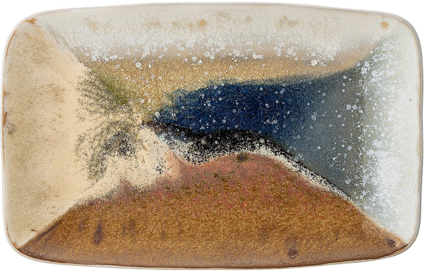 Fuente artesanal Willow, Gres, Multicolor, An 34 x F 21 cm