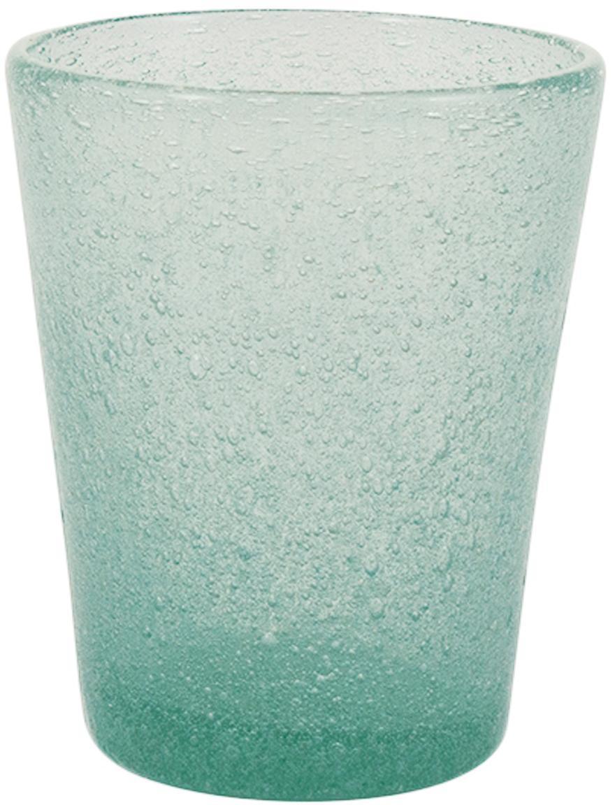Waterglazen Cancun, 6 stuks, Mondgeblazen glas, Groen, Ø 8 x H 10 cm