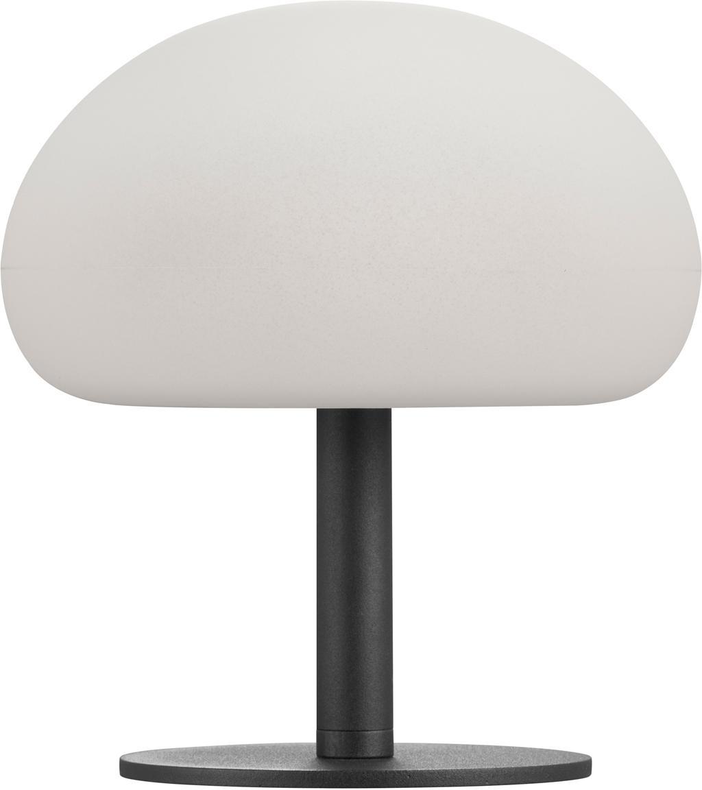 Dimmbare LED Außentischleuchte Sponge, Lampenschirm: Kunststoff (PVC), Lampenfuß: Metall, beschichtet, Weiß, Schwarz, Ø 20 x H 22cm
