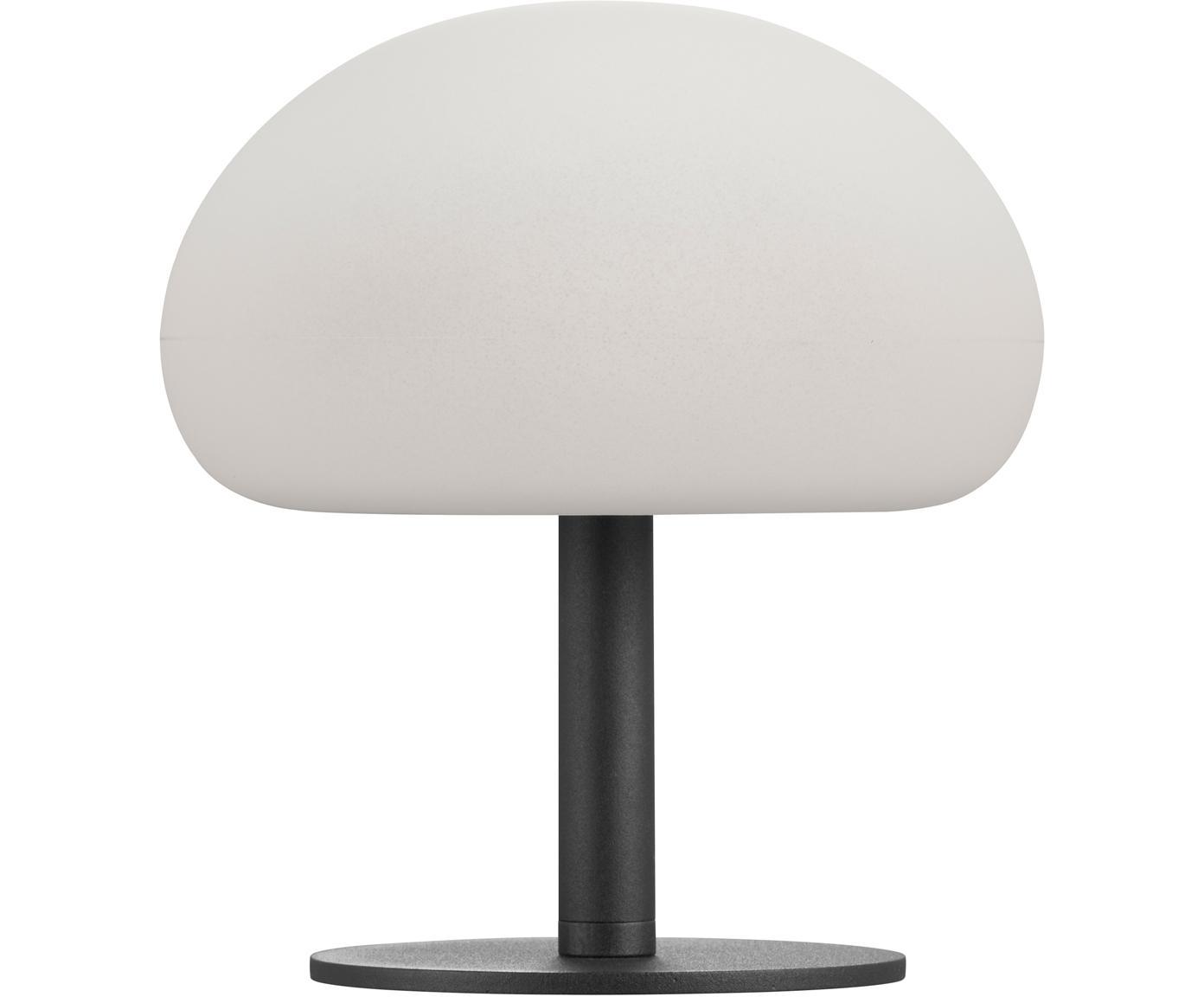 Zewnętrzna lampa stołowa z funkcją przyciemniania Sponge, Biały, czarny, Ø 20 x W 22 cm