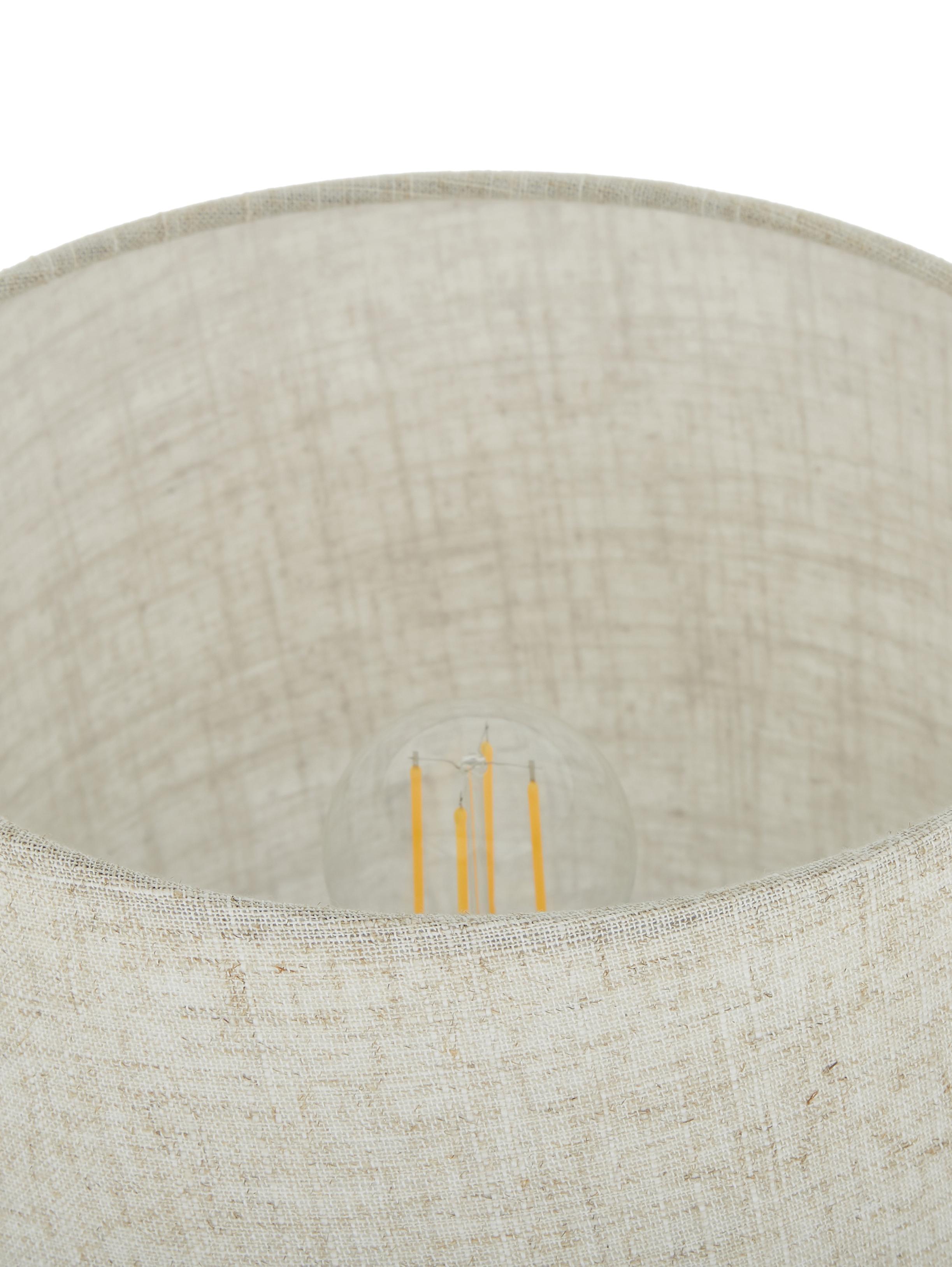 Lampe à poser beige Kaya, Abat-jour: beige Pied de lampe: gris foncé Câble: noir