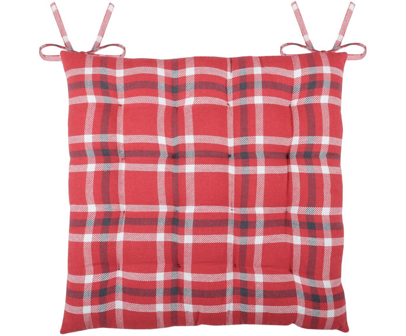 Sitzkissen Teddybear, Rot, Schwarz, Weiss, 40 x 40 cm