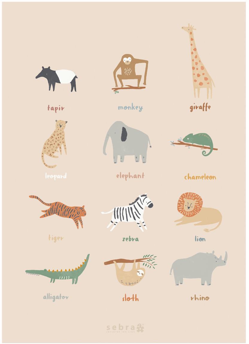 Plakat Wildlife, Papier artystyczny, 250 g / m², Wielobarwny, S 50 x W 70 cm