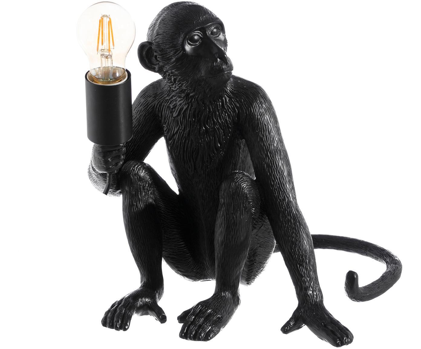 Tischleuchte Monkey, POLYRESIN, Schwarz, 31 x 31 cm