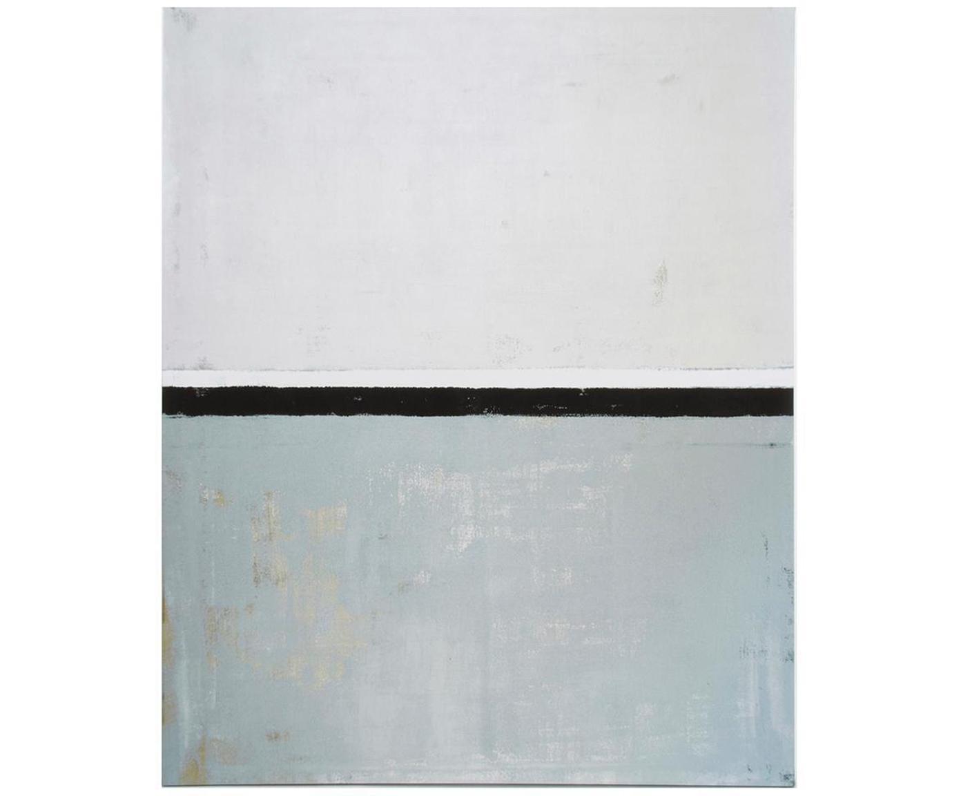 Impresión sobre lienzo Sea, Multicolor, An 90 x Al 110 cm