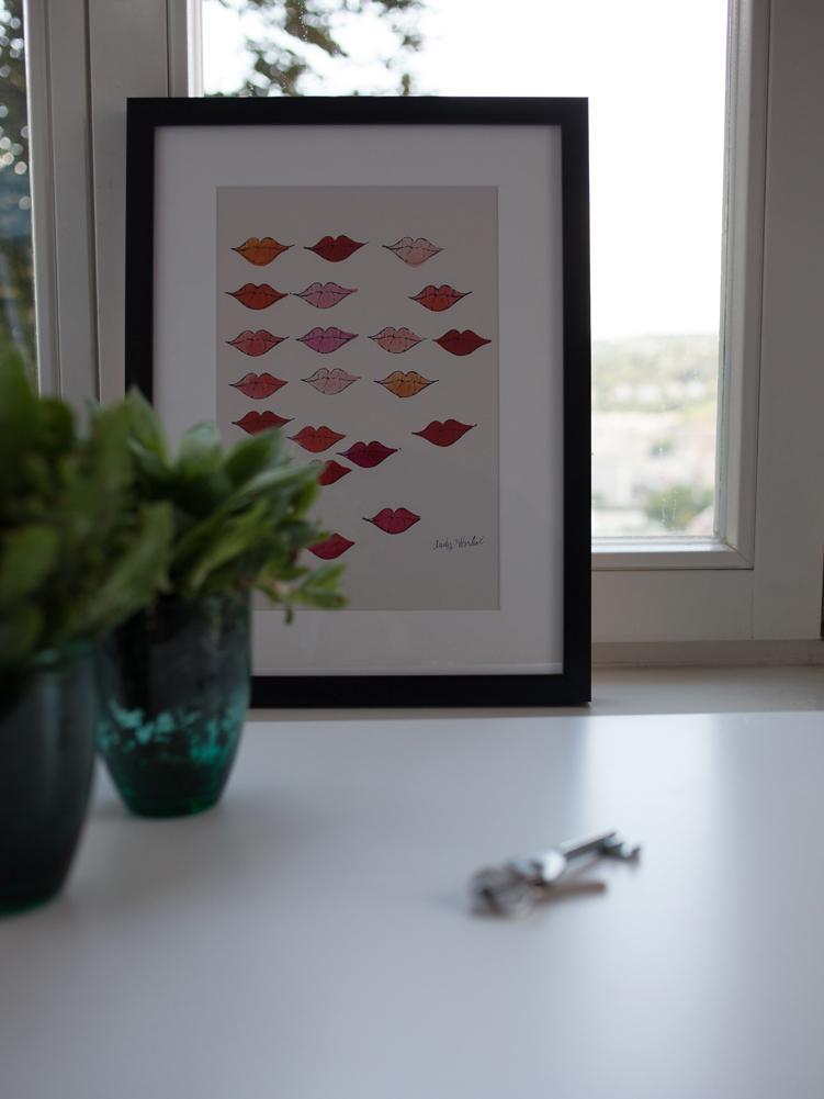"""Gerahmter Digitaldruck Kiss """"Andy Warhol Collection"""", Bild: Digitaldruck, Rahmen: Kunststoff, Front: Glas, Bild: Mehrfarbig</p><p>Rahmen: Schwarz, 30 x 40 cm"""