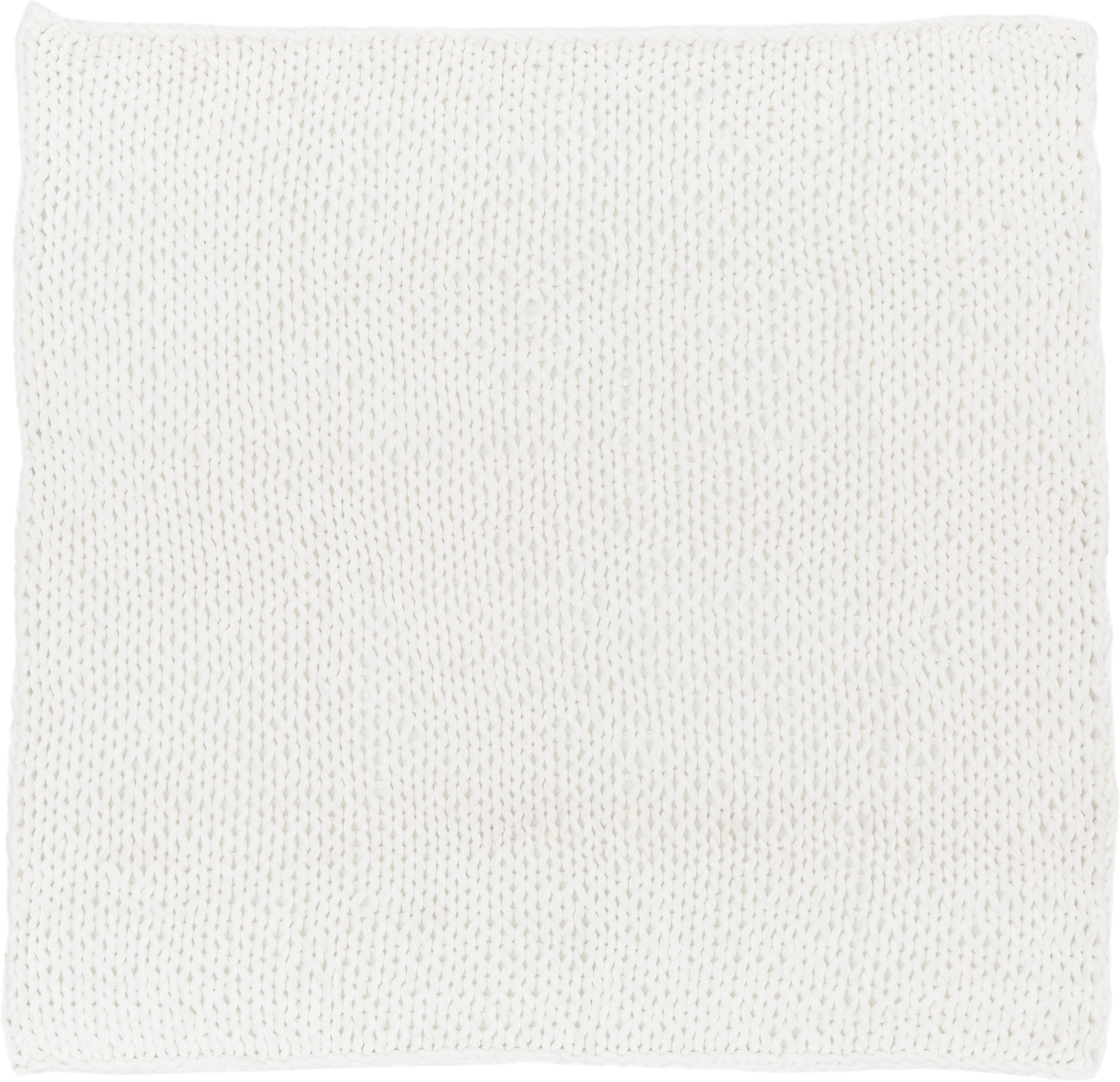 Grobes Strick-Plaid Adyna, 100% Acryl, Weiß, 150 x 200 cm
