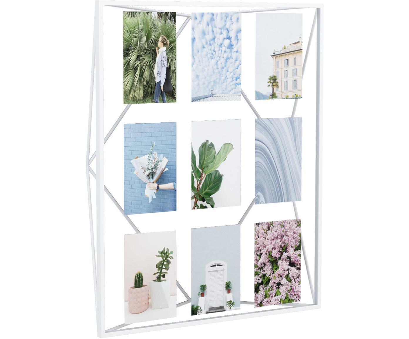 Cornice foto Prisma, Metallo rivestito, Bianco, 10 x 15 cm