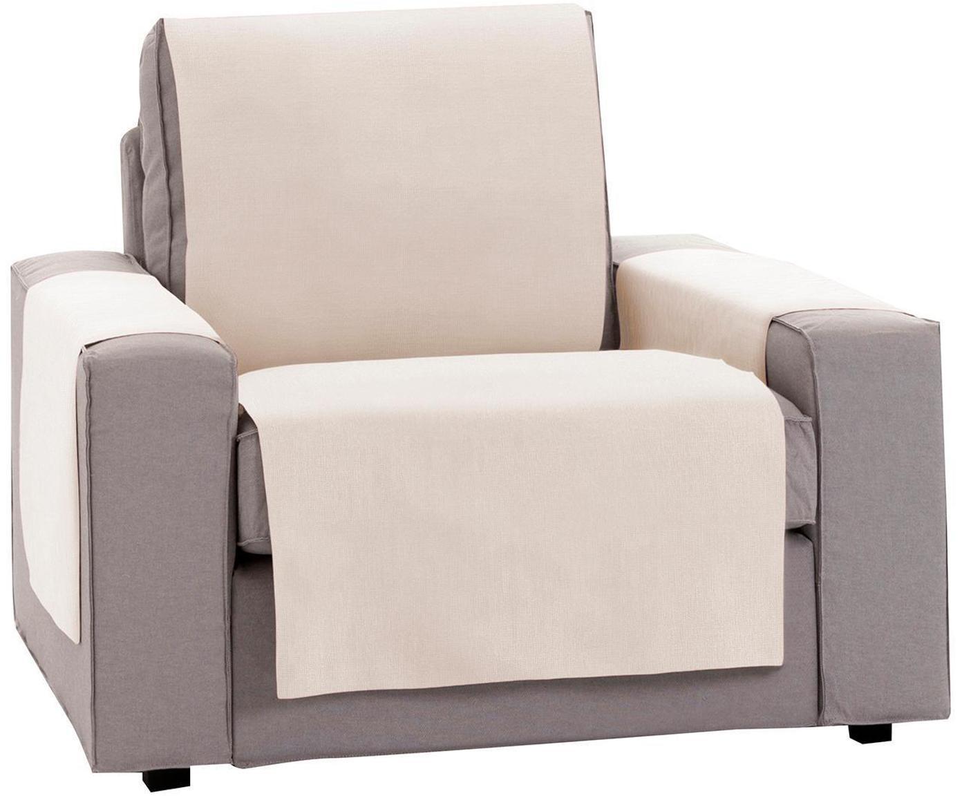 Funda de sillón Levante, 50%algodón, 50%poliéster, Beige, An 55 x L 220 cm