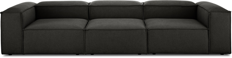 Modulares Sofa Lennon (4-Sitzer), Bezug: Polyester Der hochwertige, Gestell: Massives Kiefernholz, Spe, Füße: Kunststoff, Webstoff Anthrazit, B 326 x T 119 cm