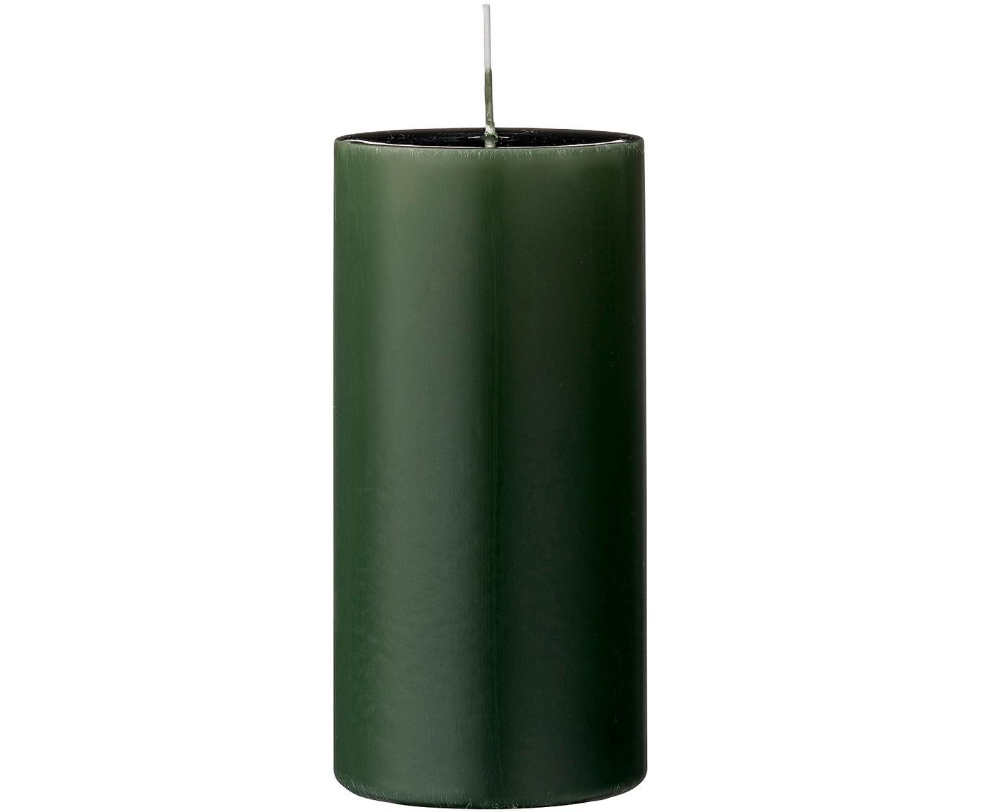 Stompkaarsen Lulu, 2 stuks, Was, Bosgroen, Ø 7 cm