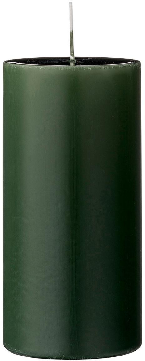 Candela pilastro Lulu 2 pz, Cera, Verde, Ø 7 x Alt. 15 cm