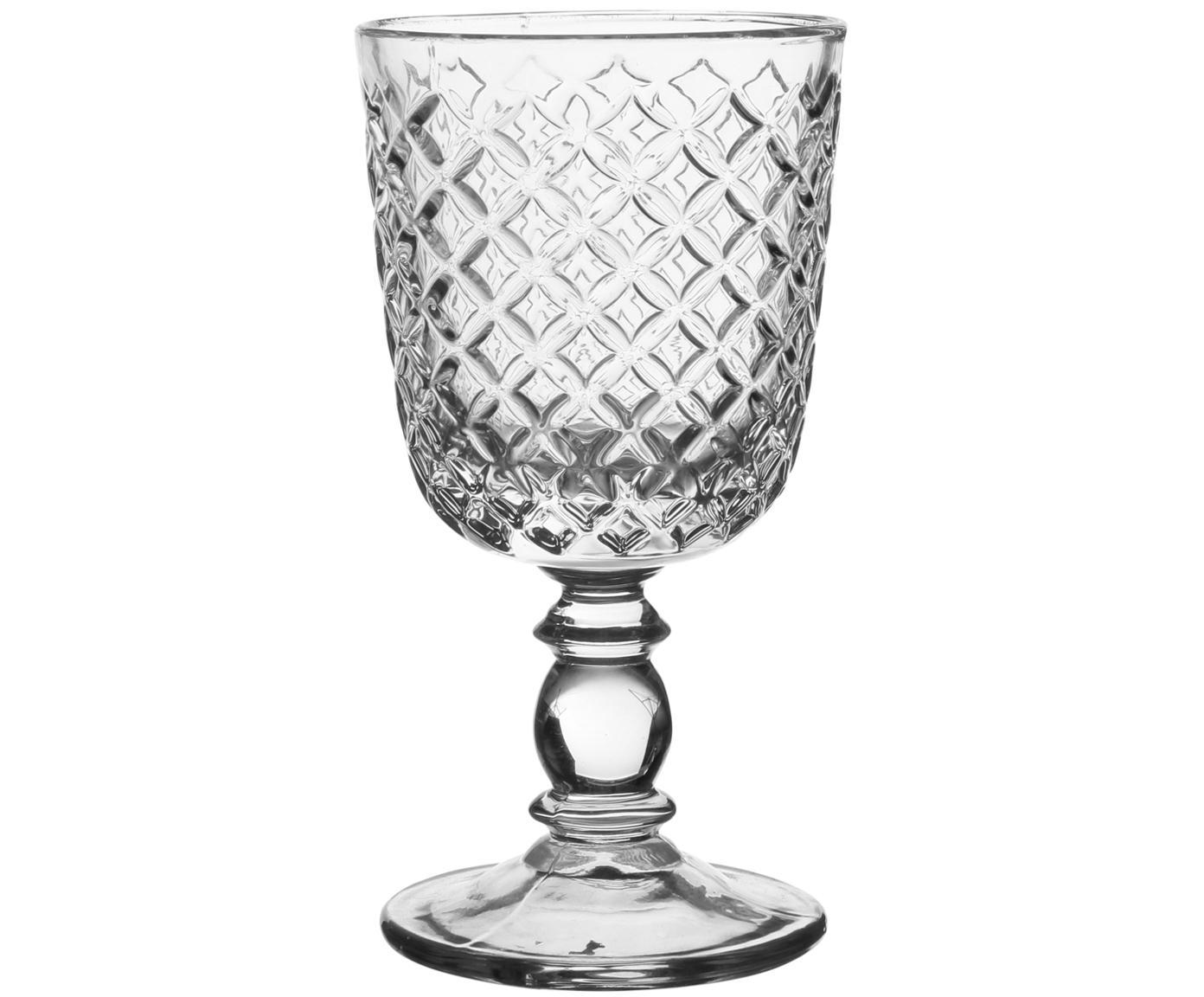 Copas de vino Arlequin, 2uds., estilo country, Vidrio, Transparente, 280 ml