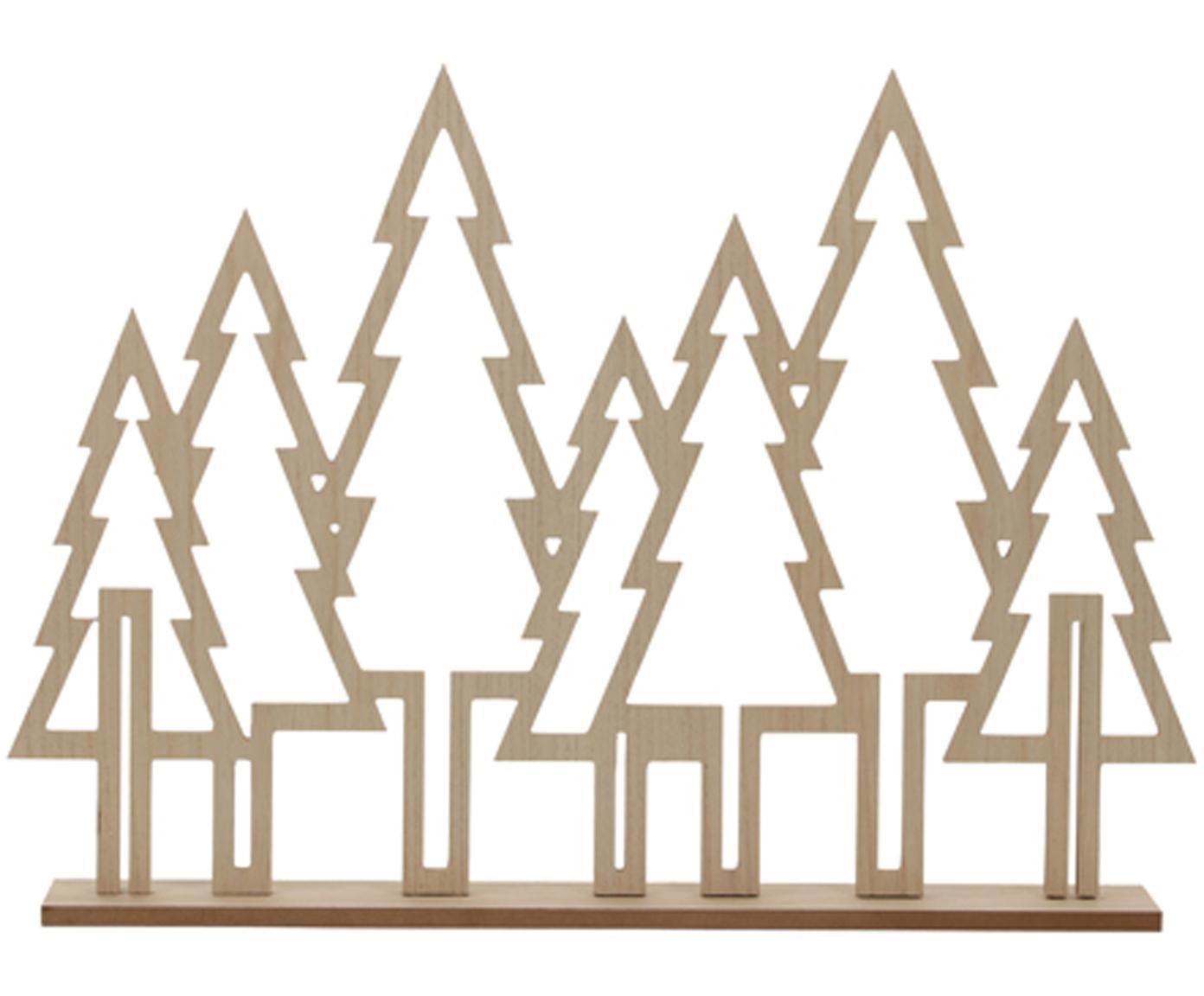 Struttura con pini decorativi Waldi, Pannello di fibra a media densità, rivestito, Marrone, Larg. 71 x Alt. 51 cm