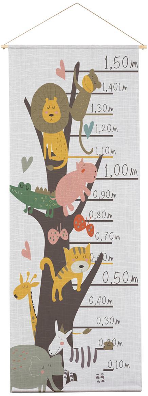 Metro da parete Animals, Poliestere (microfibra), Multicolore, Larg. 40 x Alt. 155 cm