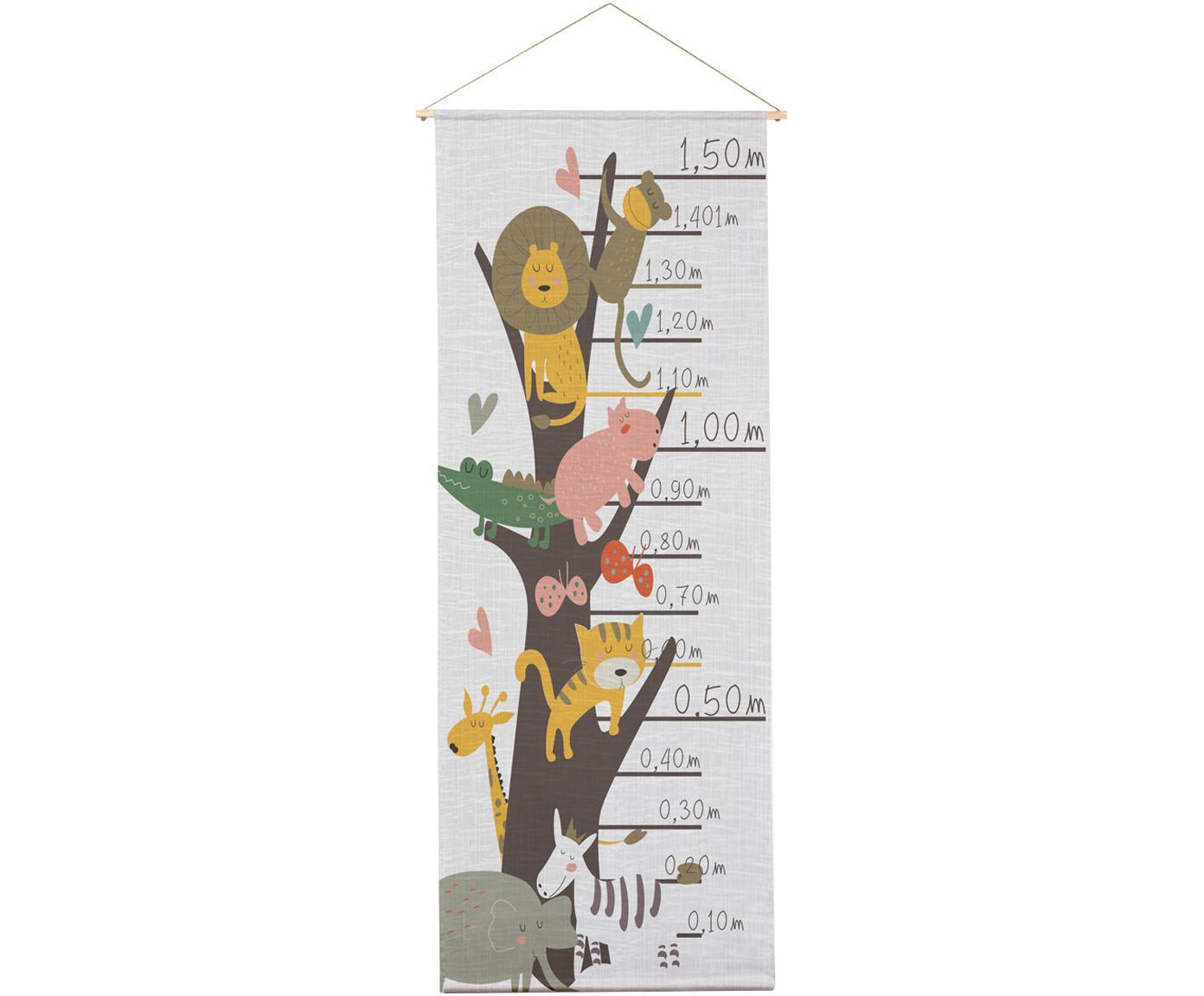 Messlatte Animals, Polyester (Mikrofaser), Mehrfarbig, 40 x 155 cm