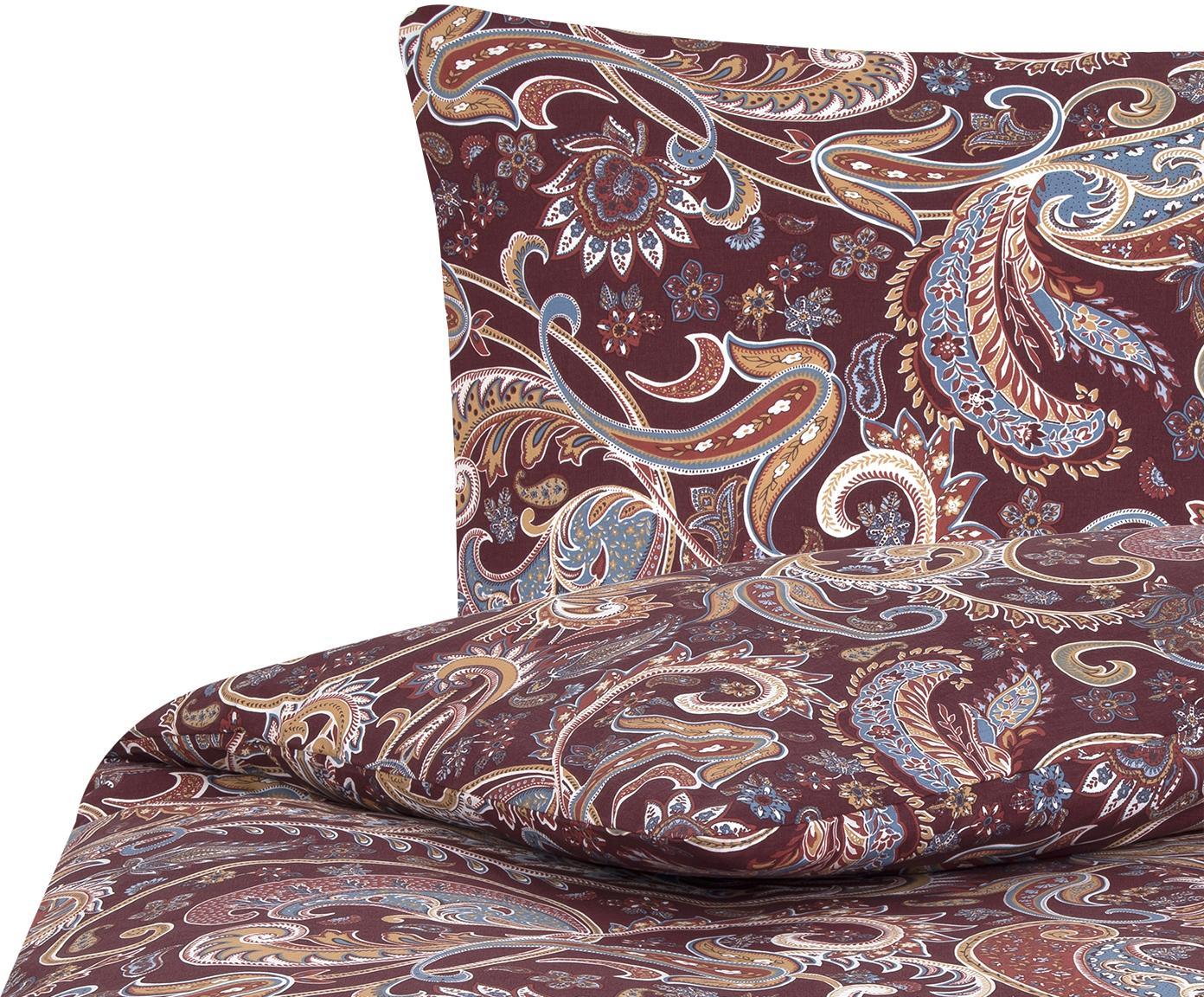 Pościel z bawełny renforcé Liana, Tapicerka: ciemny fioletowy nogi: czarny, matowy, 135 x 200 cm