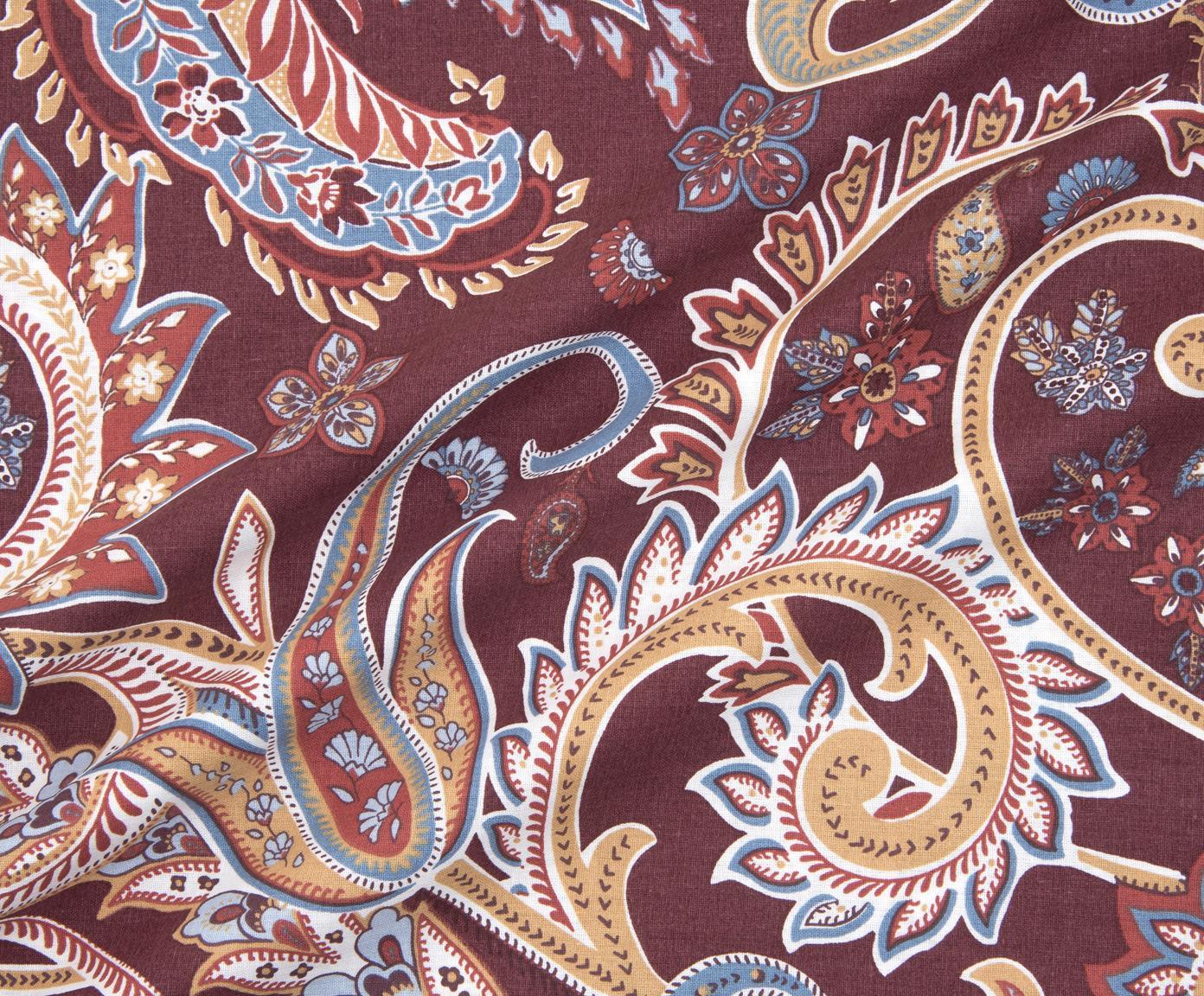 Pościel z bawełny renforcé Liana, Tapicerka: ciemny fioletowy nogi: czarny, matowy, 240 x 220 cm