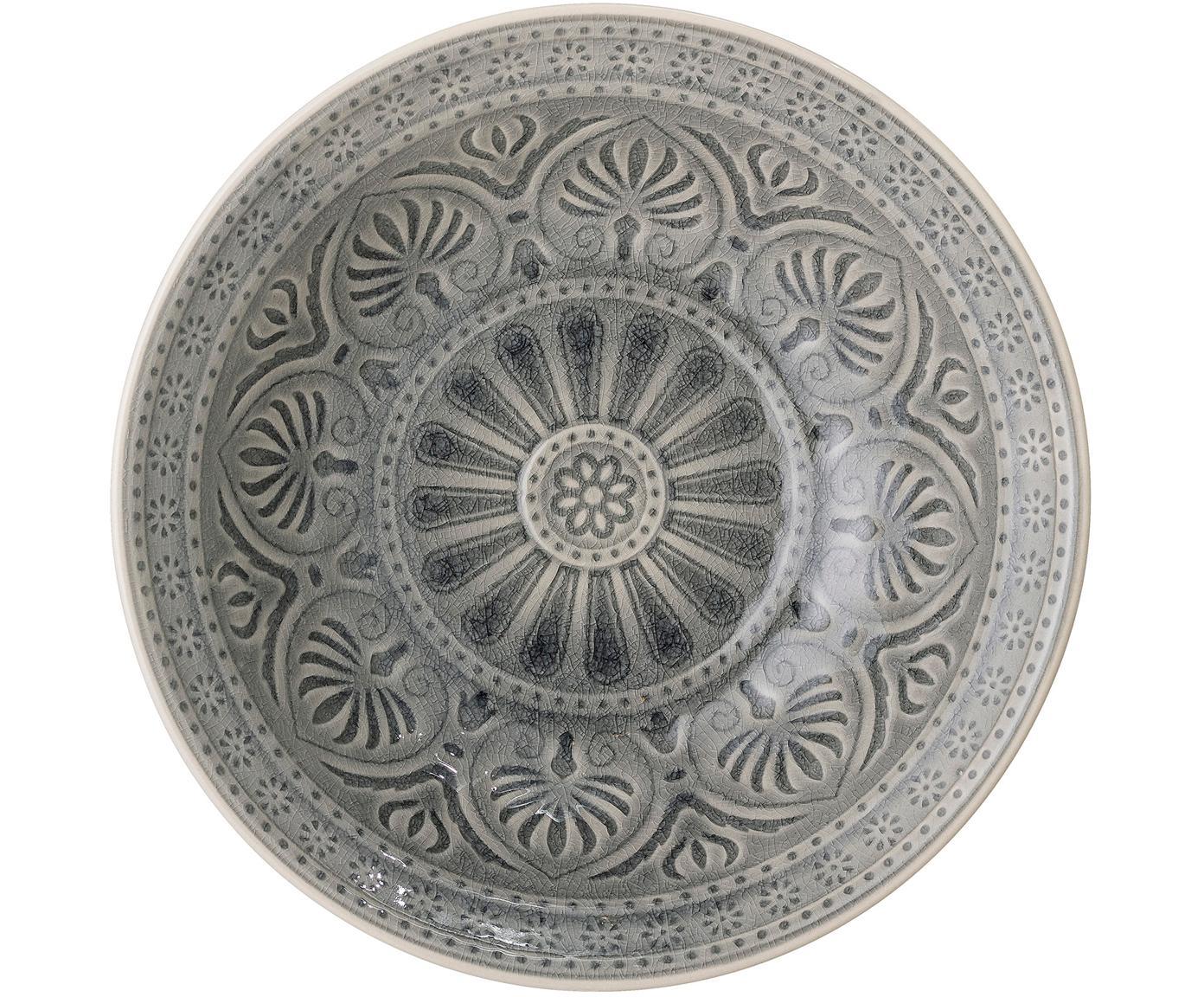 Ręcznie wykonana miska Rani, Kamionka, Szary, Ø 27 x W 8 cm