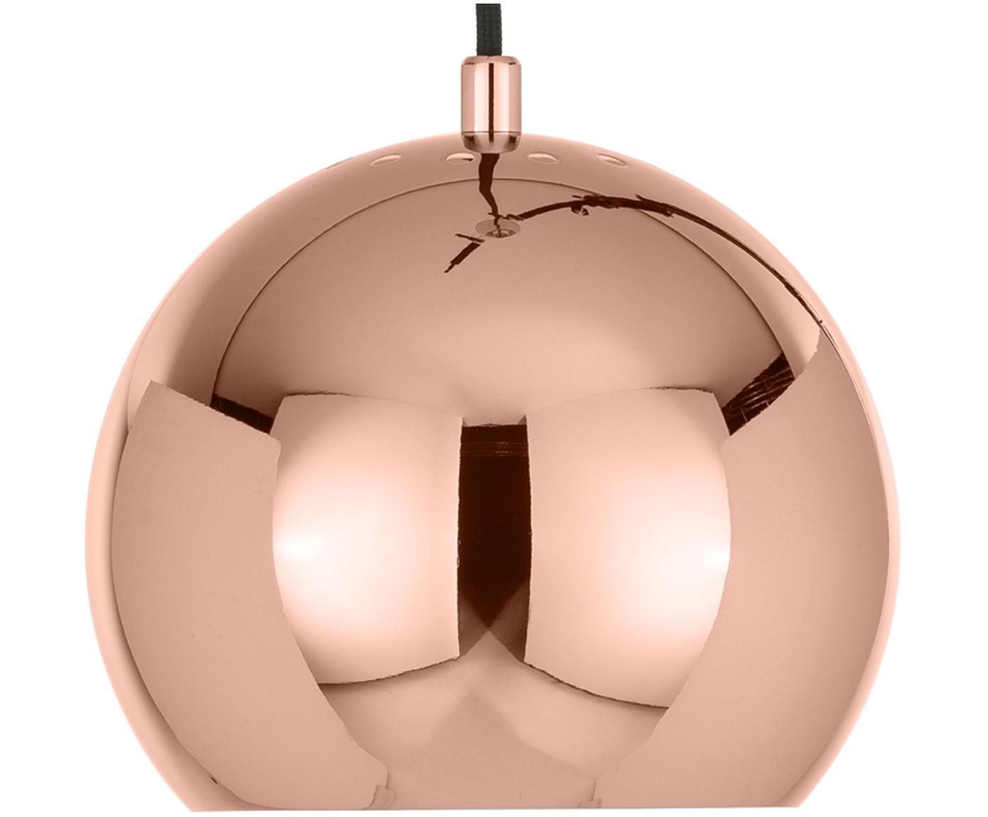 Kleine Kugel-Pendelleuchte Ball, Metall, beschichtet, Kupferfarben, Ø 18 x H 16 cm