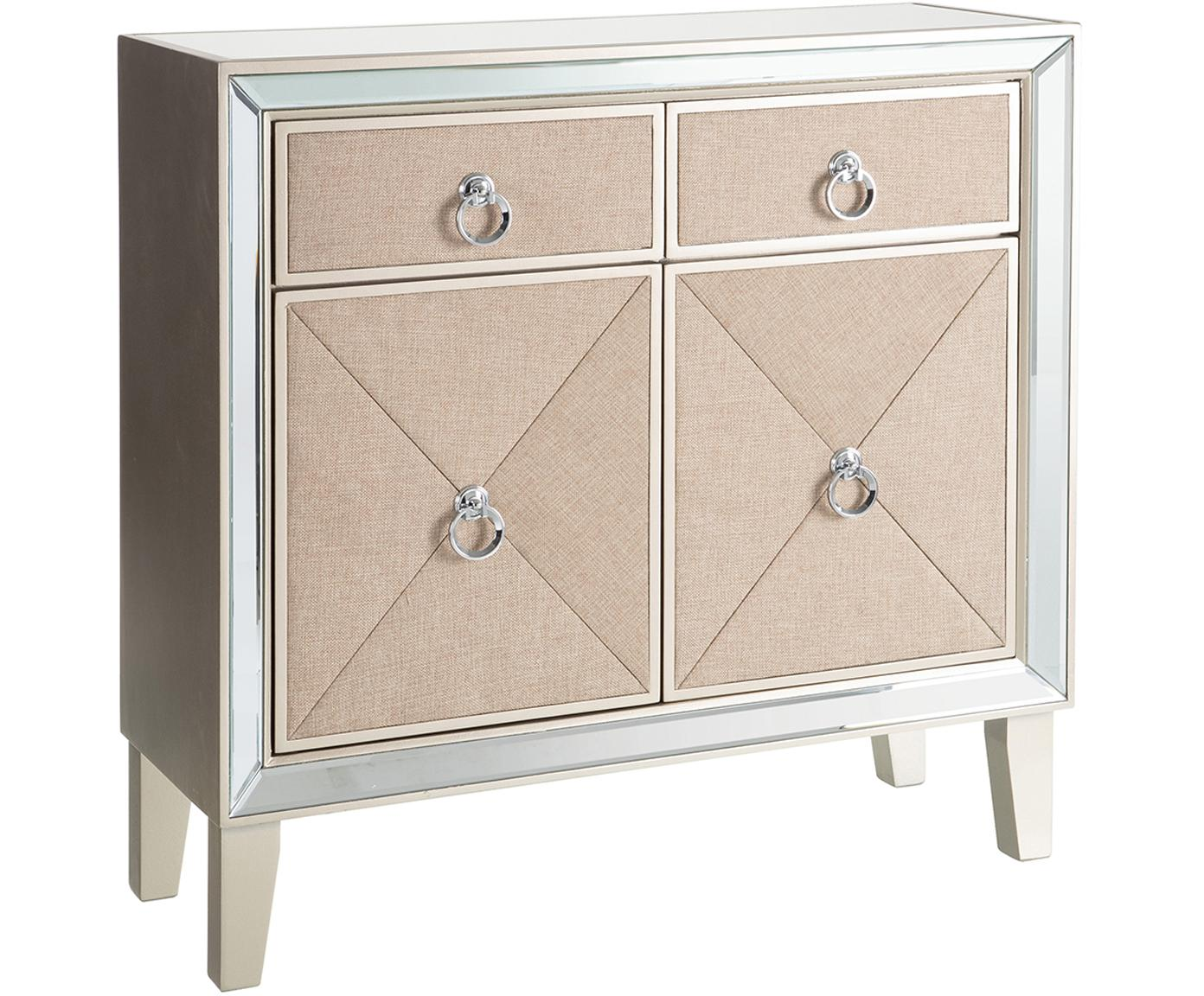 Consola Miriam, Blanco crema, beige, An 80 x Al 81 cm