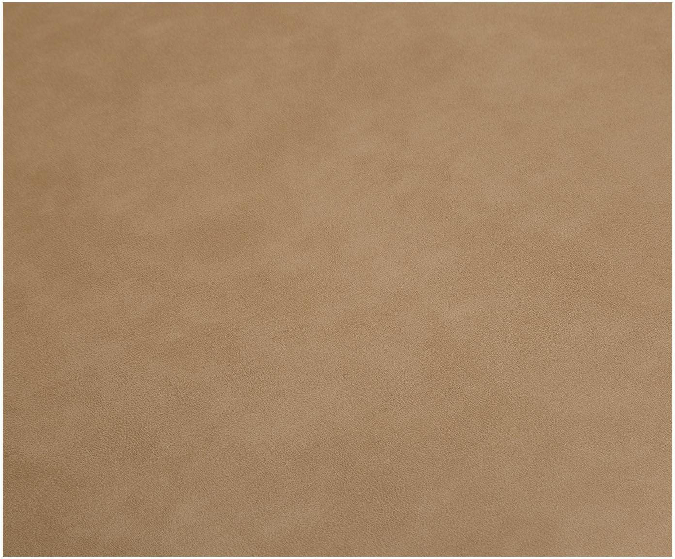 Kunstleren draaistoel Lola, Bekleding: kunstleer (polyurethaan), Poten: gepoedercoat metaal, Lichtbruin, B 52 x D 57 cm