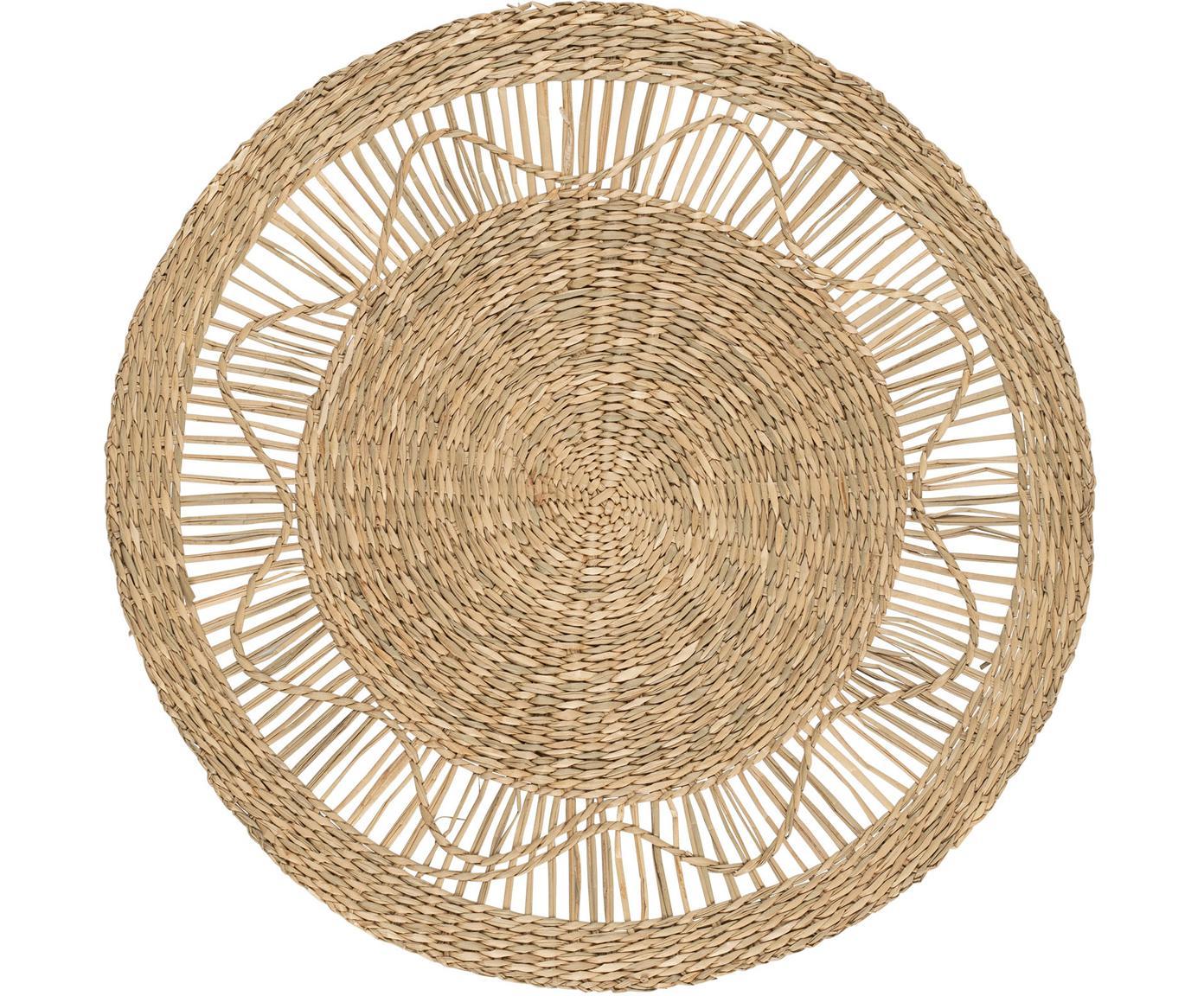 Tischset Gipsy, Seegras, Beige, Ø 35 cm