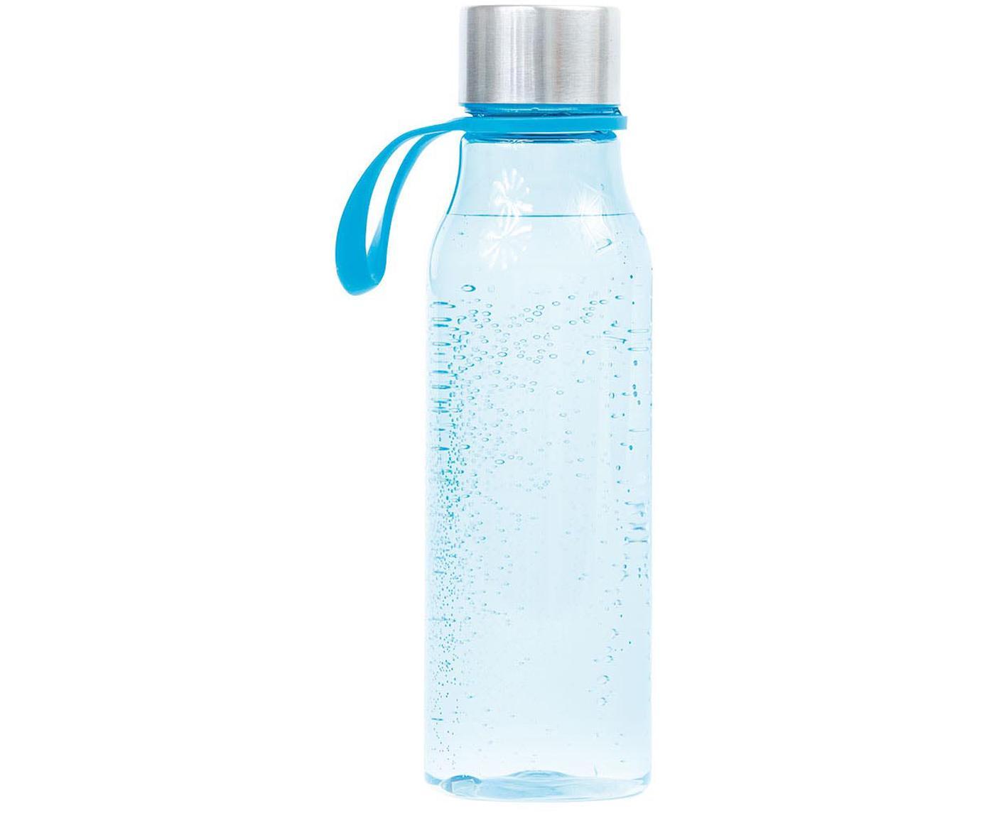 Kleine to go drinkfles Lean, Fles: Tritan (kunststof), BPA-v, Lichtblauw, staalkleurig, 570 ml