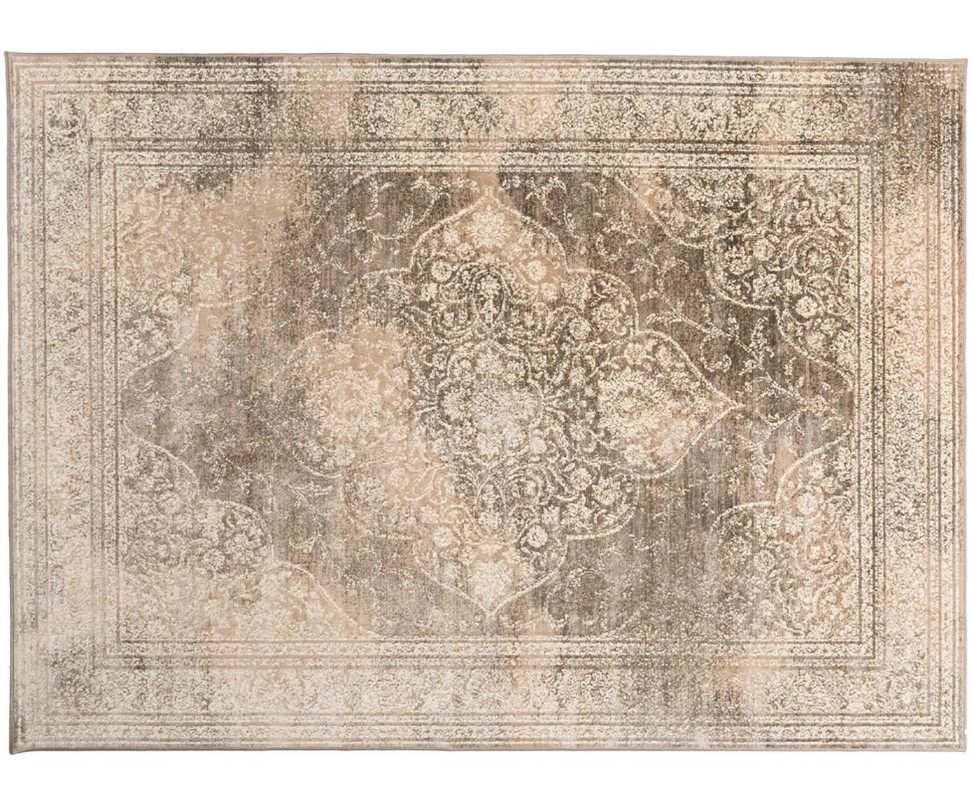 Vintage Teppich Rugged in Beigetönen, Beige, Braun, B 170 x L 240 cm (Grösse M)