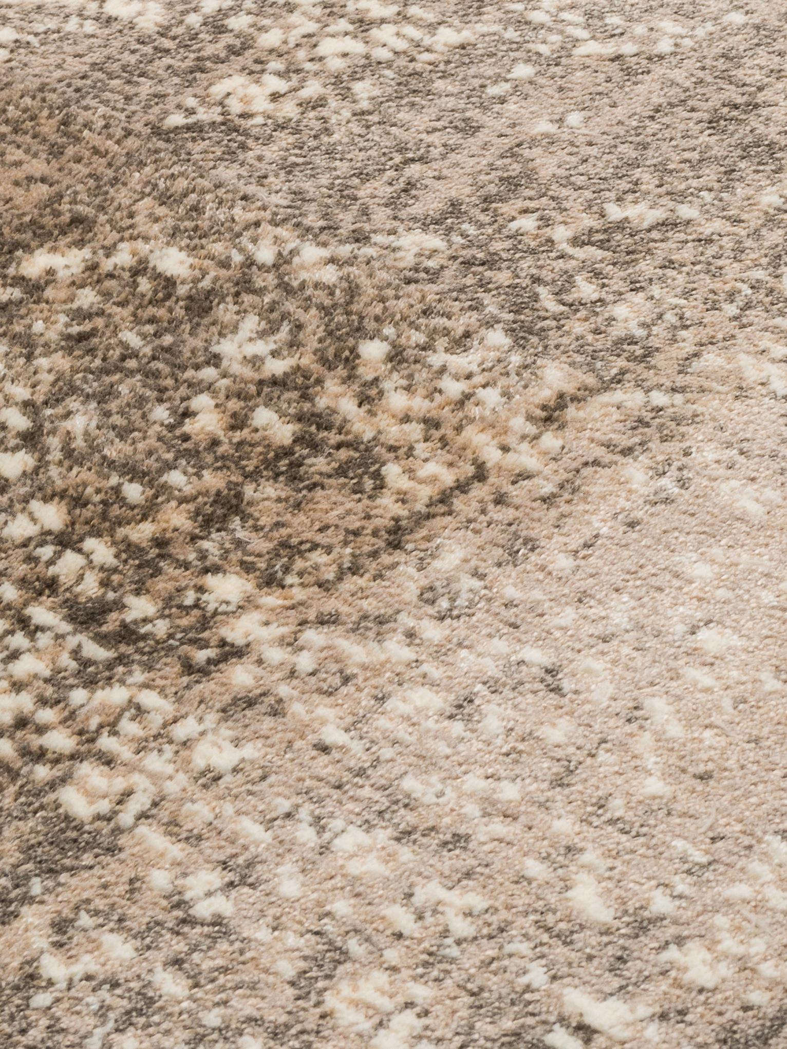 Tapis vintage beige brun Rugged, Beige, brun