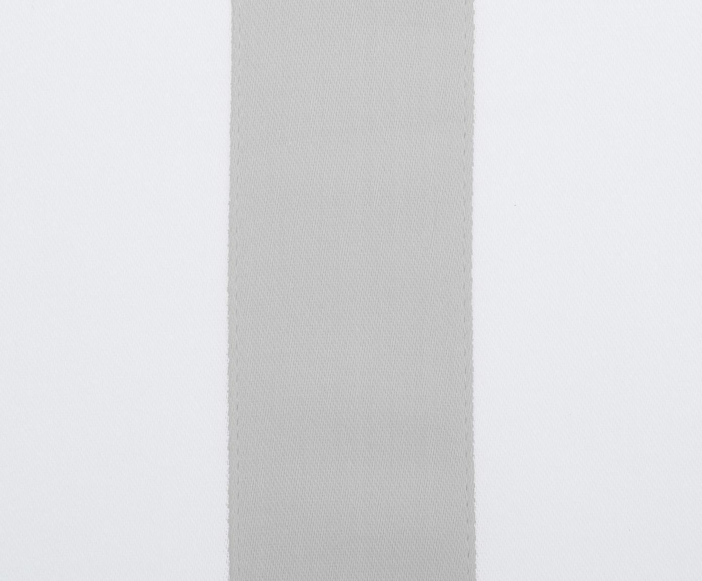 Pościel z satyny bawełnianej Nora, Biały, jasny szary, 135 x 200 cm