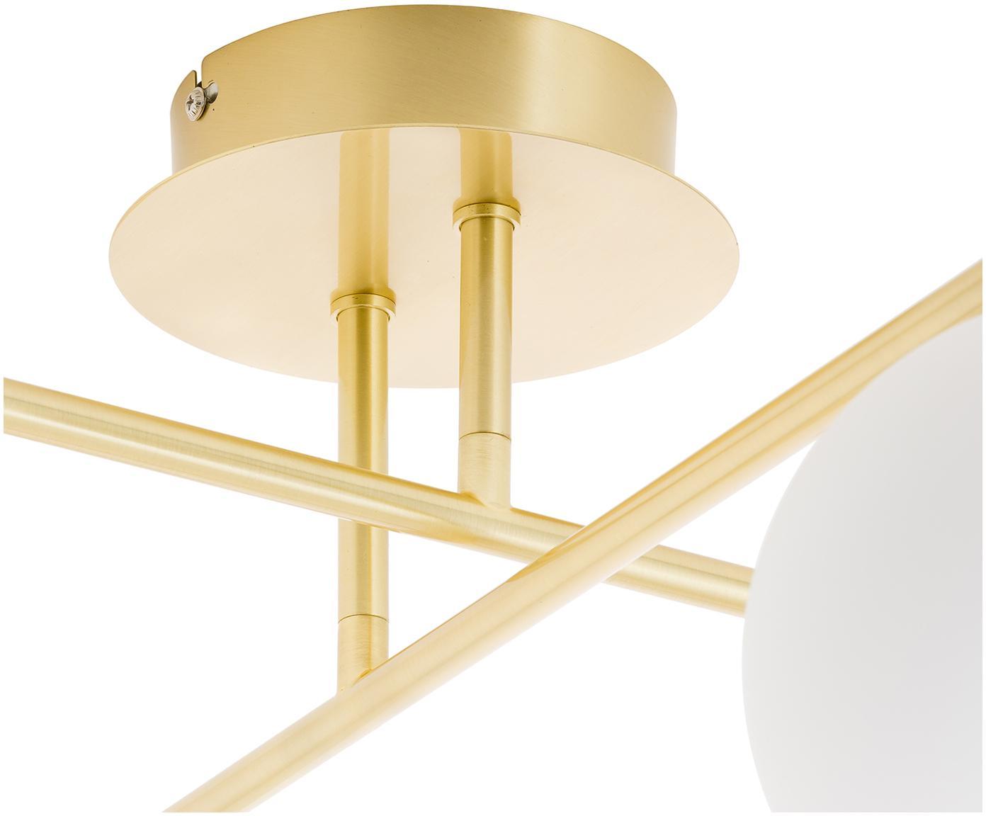 Lampa sufitowa z regulacją wysokości Atlanta, Biały, mosiądz, S 65 x W 30 cm