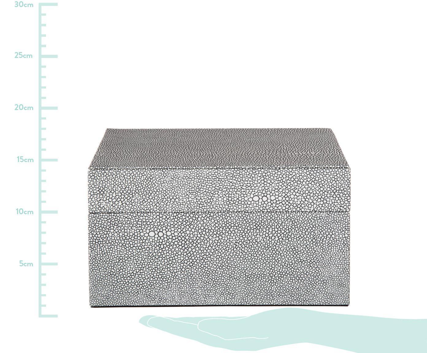 Komplet pudełek do przechowywania Megan, 2 elem., Ciemny szary, Różne rozmiary