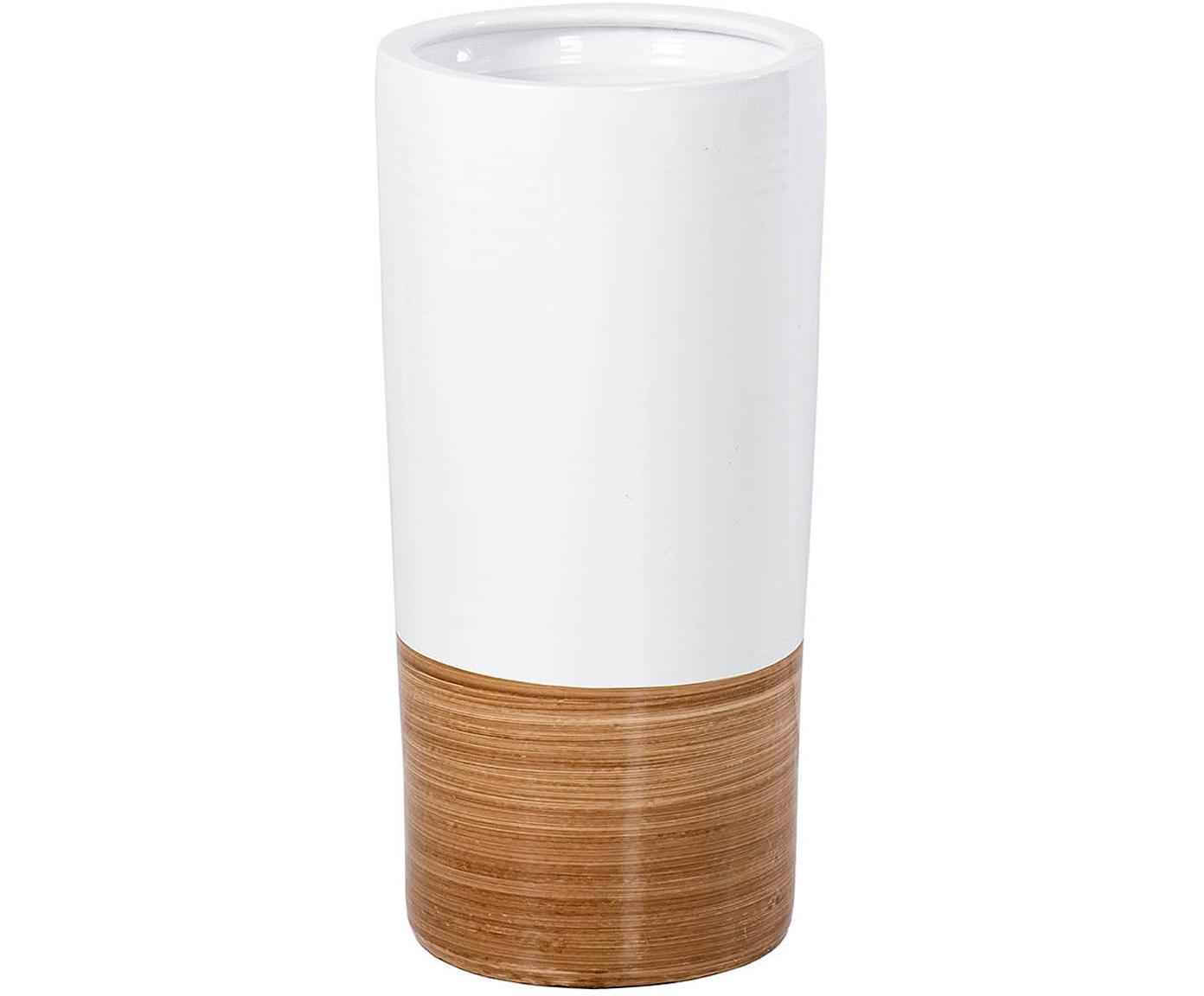 Paragüero Compis, Cerámica, Marrón, blanco, Ø 23 x Al 50 cm