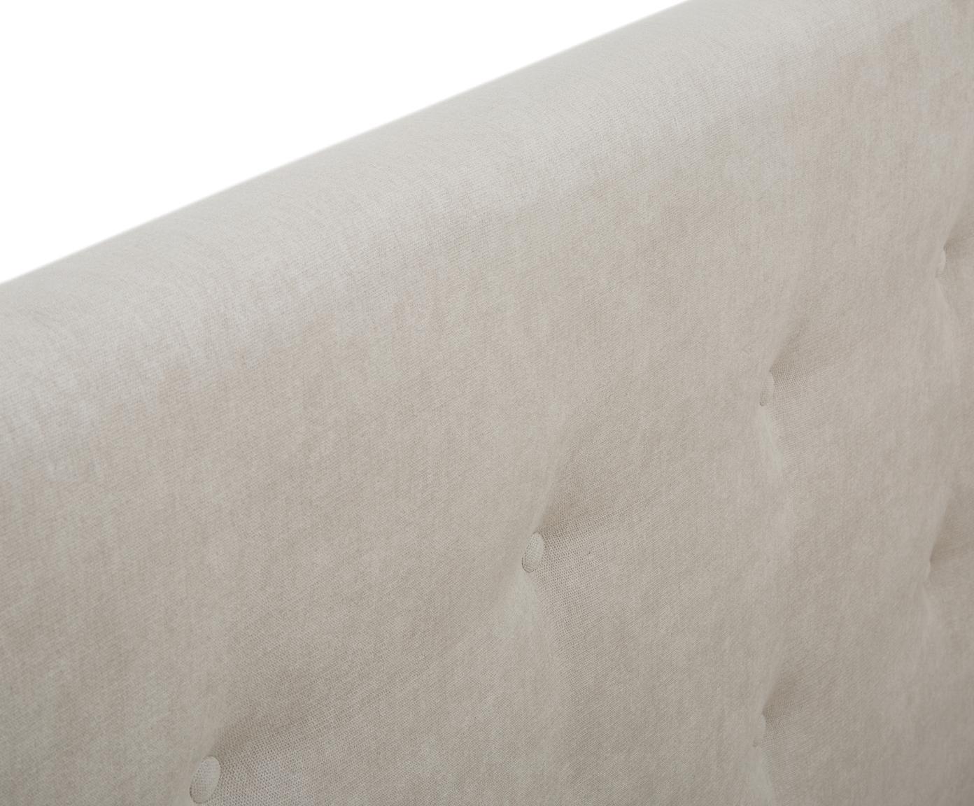 Polsterbett Star mit Stauraum, Korpus: Massives Kiefernholz, Bezug: Polyester (Strukturstoff), Webstoff Beige, 180 x 200 cm