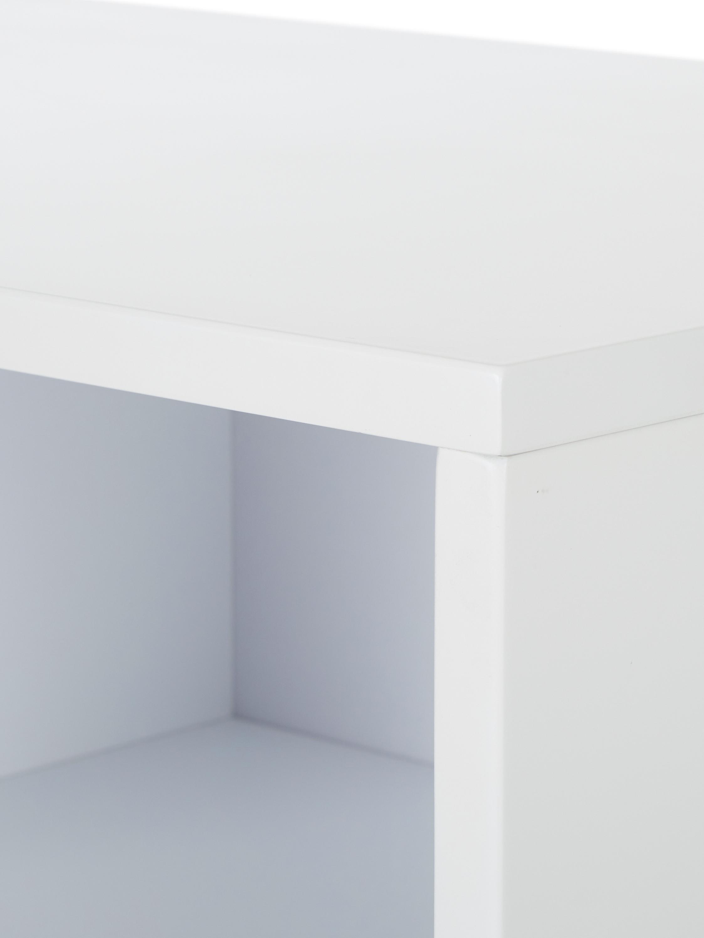 Komoda  z drzwiczkami Jesper, Korpus: płyta pilśniowa średniej , Nogi: metal lakierowany, Korpus: biały Nogi: odcienie złotego, błyszczący, S 160 x W 80 cm
