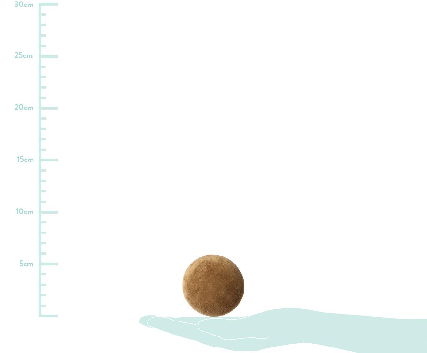 Samt-Wandhaken Peg, Front: Polyestersamt, Senfgelb, Messing, Ø 6 x T 6 cm