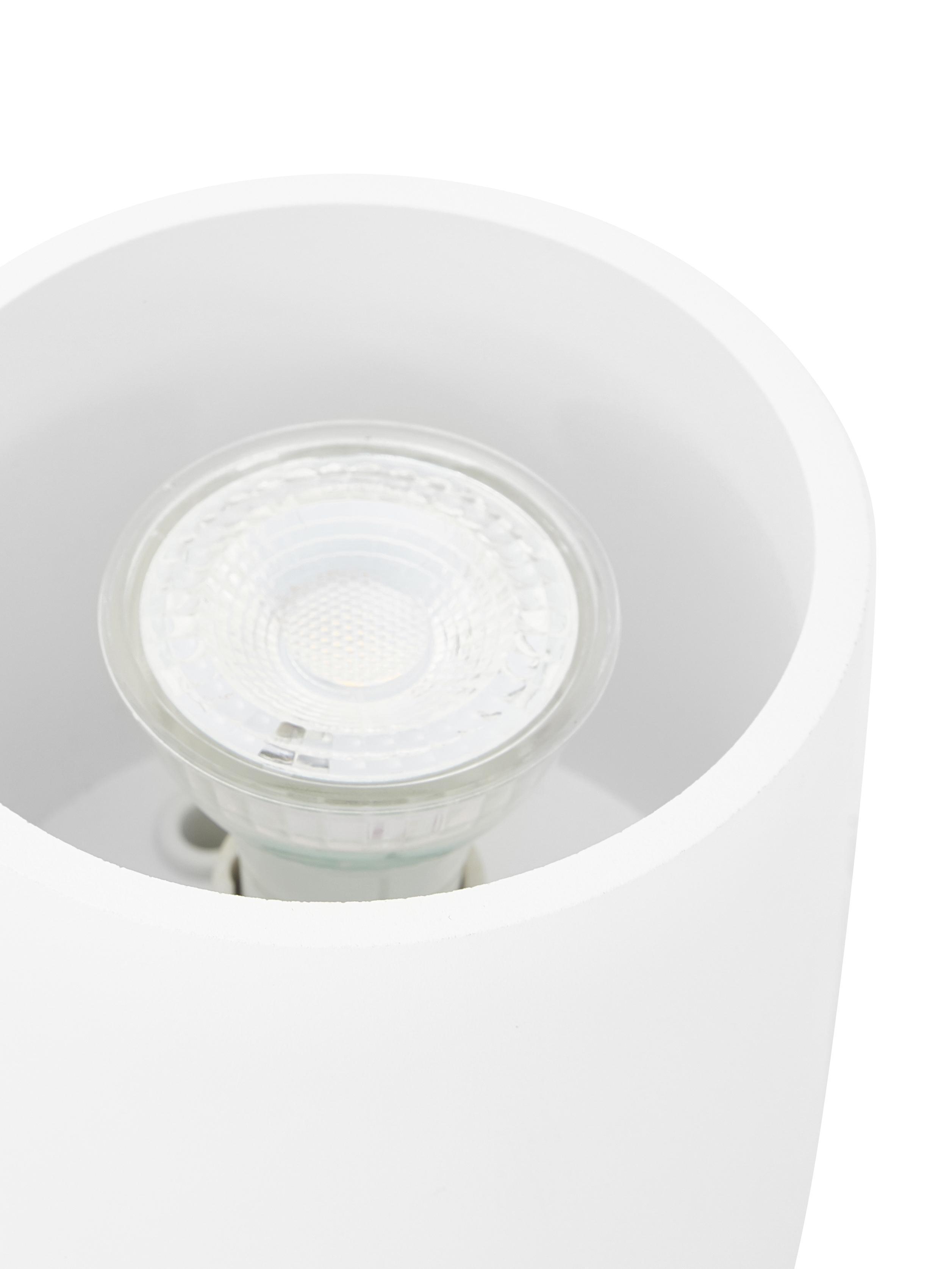 Deckenspot Roda in Weiß, Aluminium, beschichtet, Weiß, Ø 10 x H 10 cm