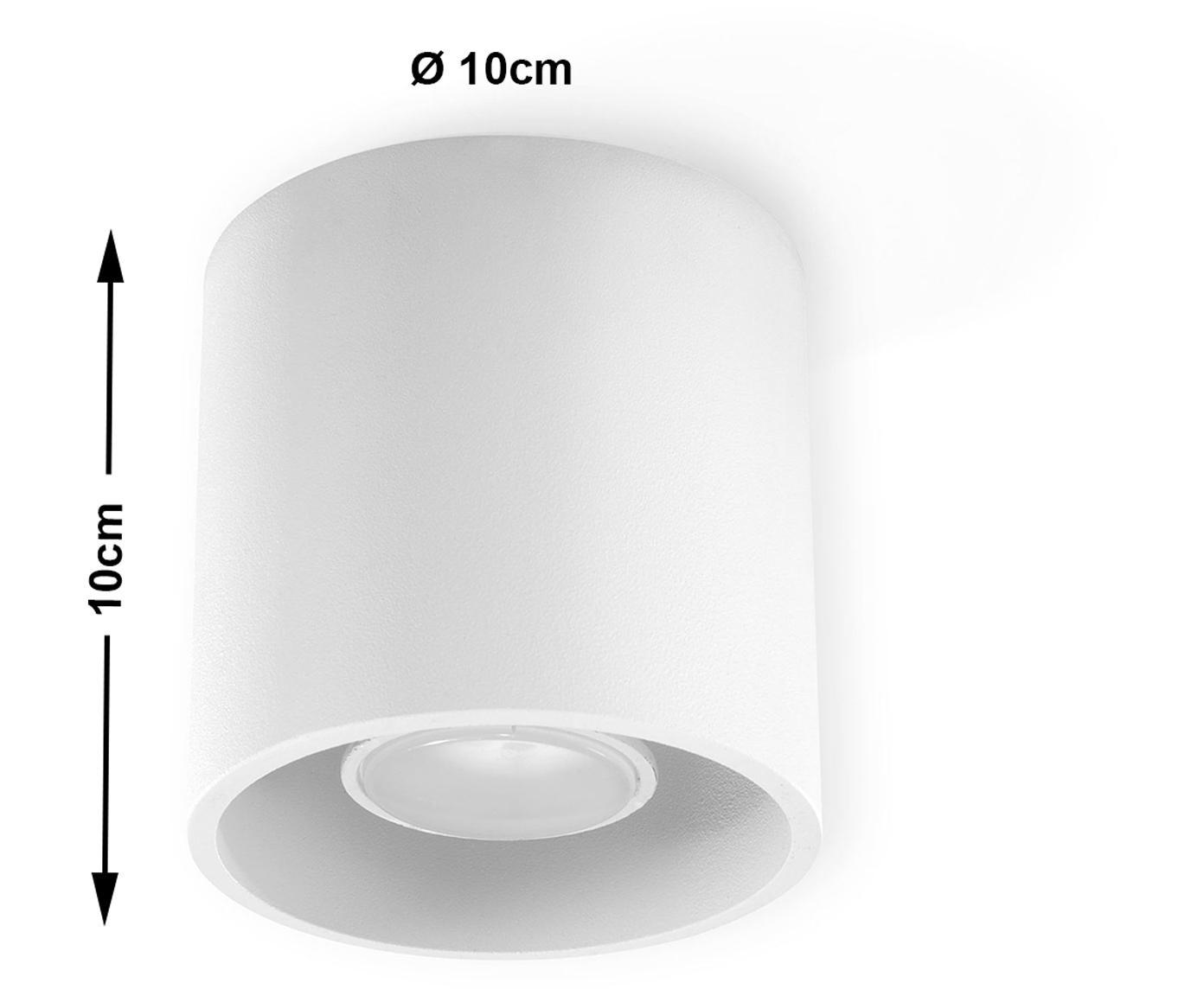Foco Roda, Aluminio recubierto, Blanco, Ø 10 x Al 10 cm