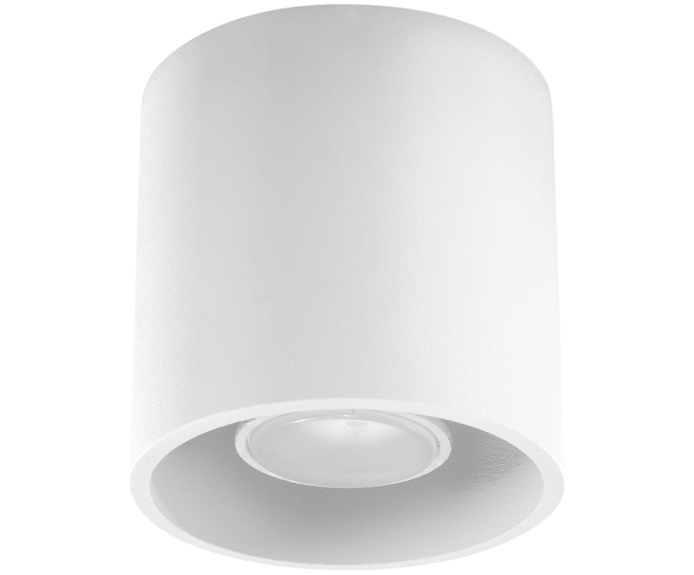 Deckenspot Roda in Weiss, Aluminium, beschichtet, Weiss, Ø 10 x H 10 cm