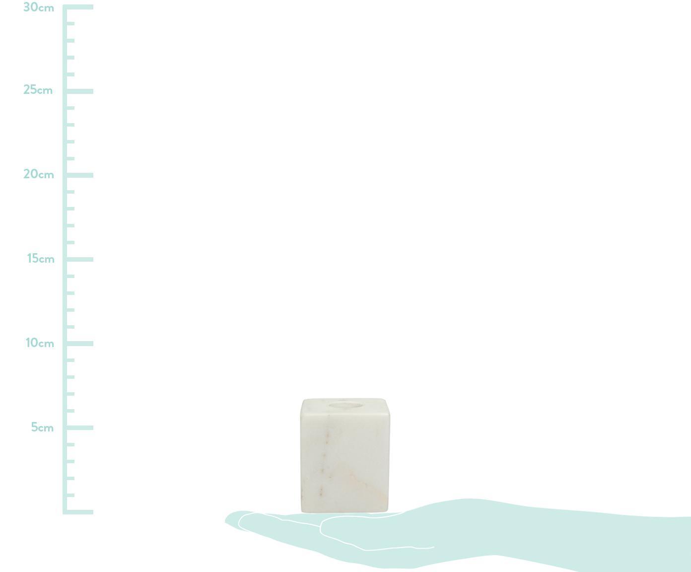 Świecznik z marmuru Marble, Marmur, Biały, S 5 x W 6 cm