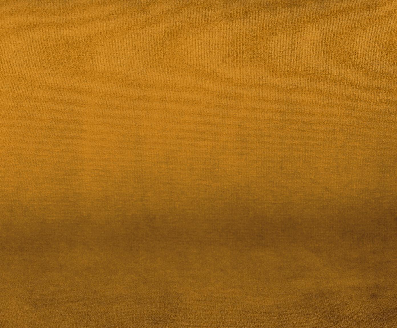 Samt-Ecksofa Moby, Bezug: Samt (Hochwertiger Polyes, Gestell: Massives Kiefernholz, Samt Senfgelb, B 280 x T 160 cm
