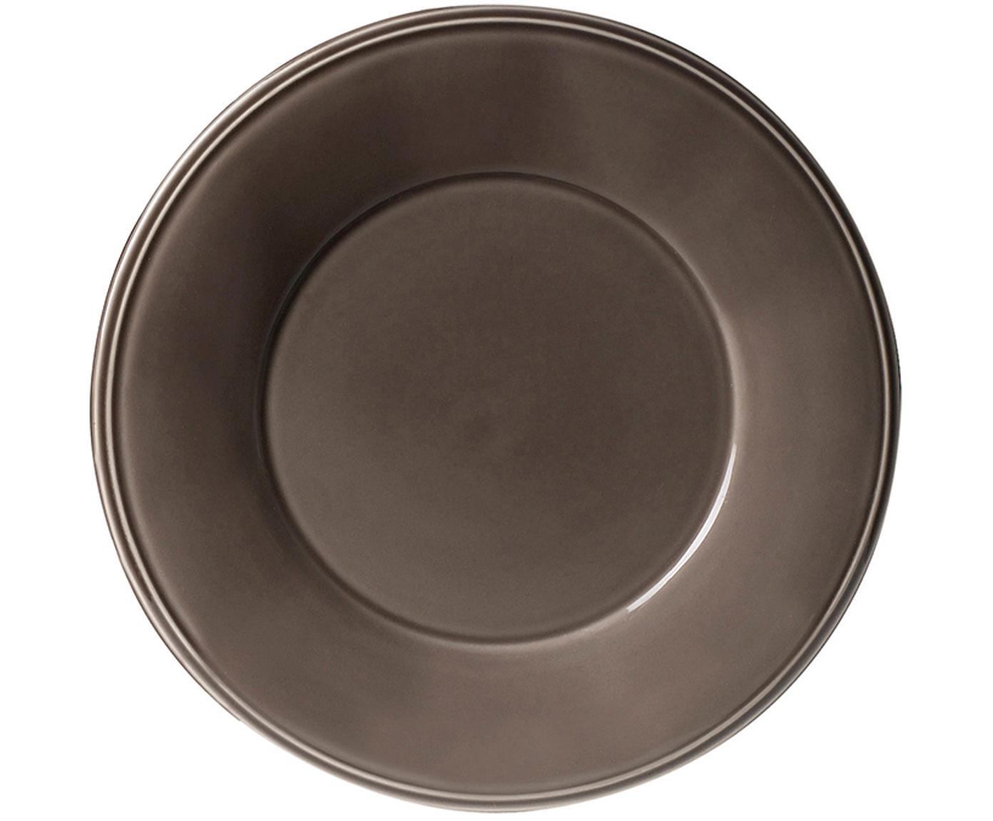 Ontbijtborden Constance, 2 stuks, Keramiek, Bruin, Ø 24 cm