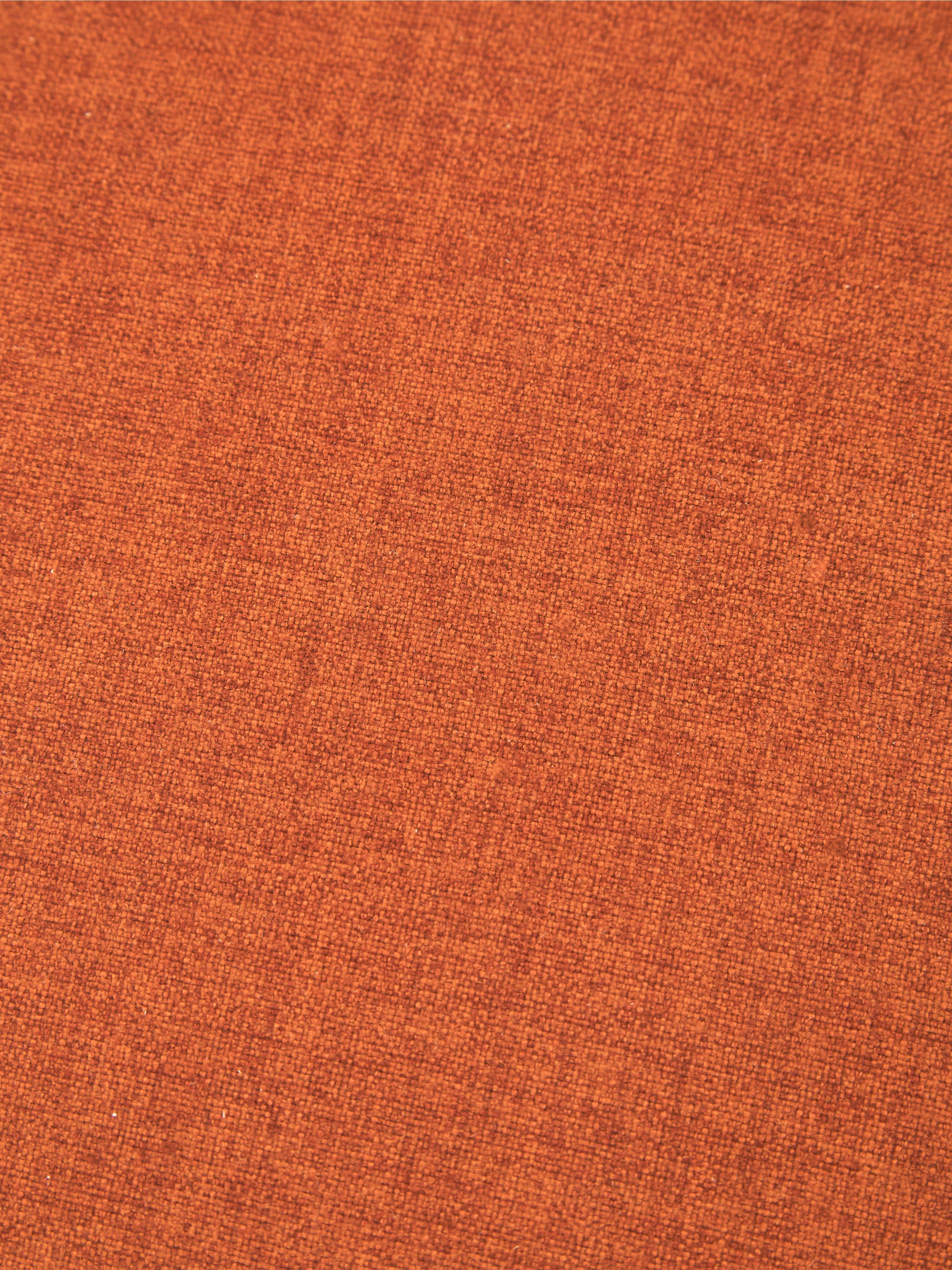 Hocker Mara mit Wiener Geflecht, Bezug: Polyester 40.000 Scheuert, Rahmen: Sperrholz, Fuß: Massives Birkenholz, Ratt, Terrakotta, Ø 37 x H 40 cm