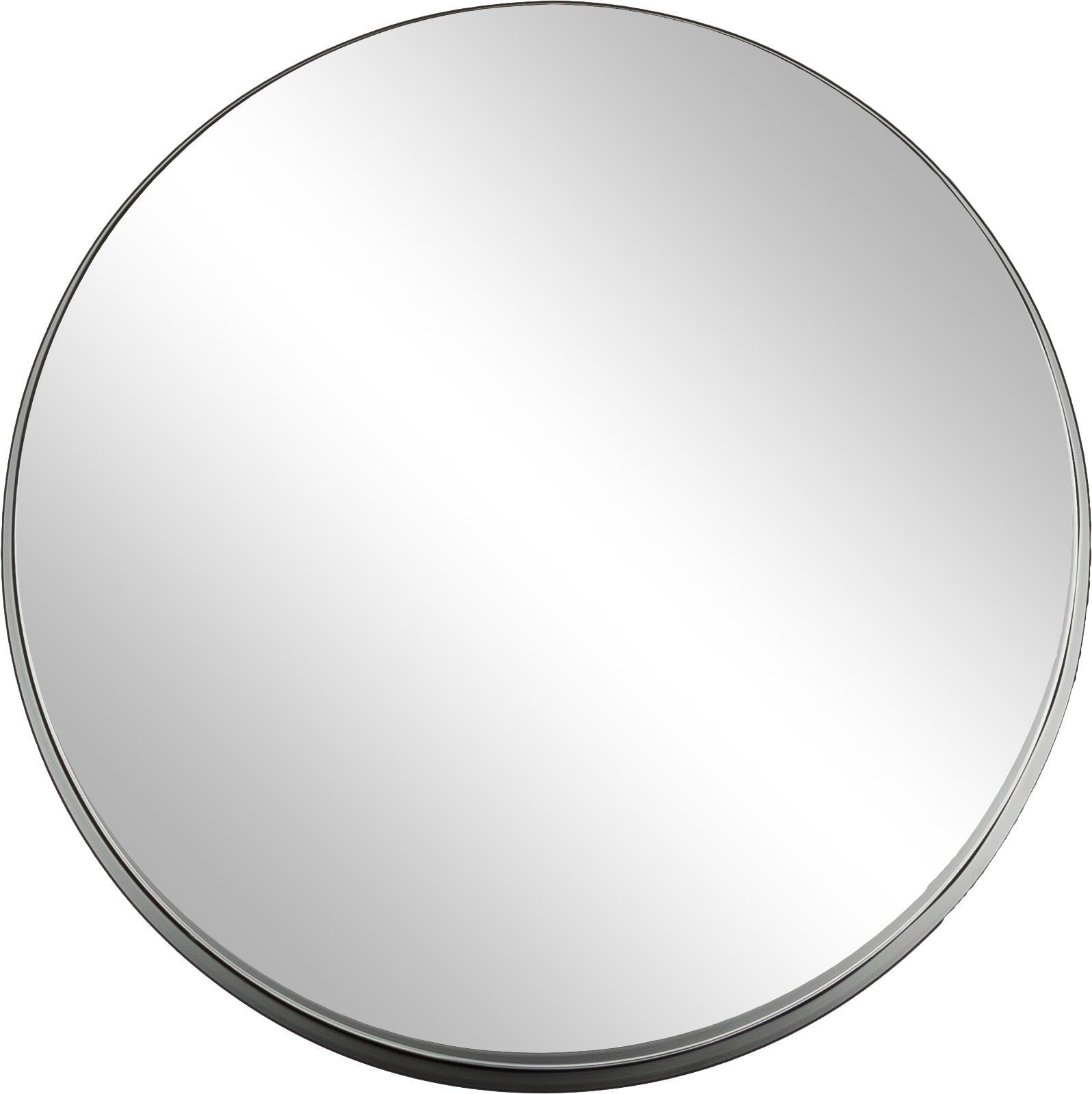 Specchio da parete con cornice Metal, Cornice: metallo verniciato con se, Cornice: nero<br>Lastra di vetro, Ø 51 cm